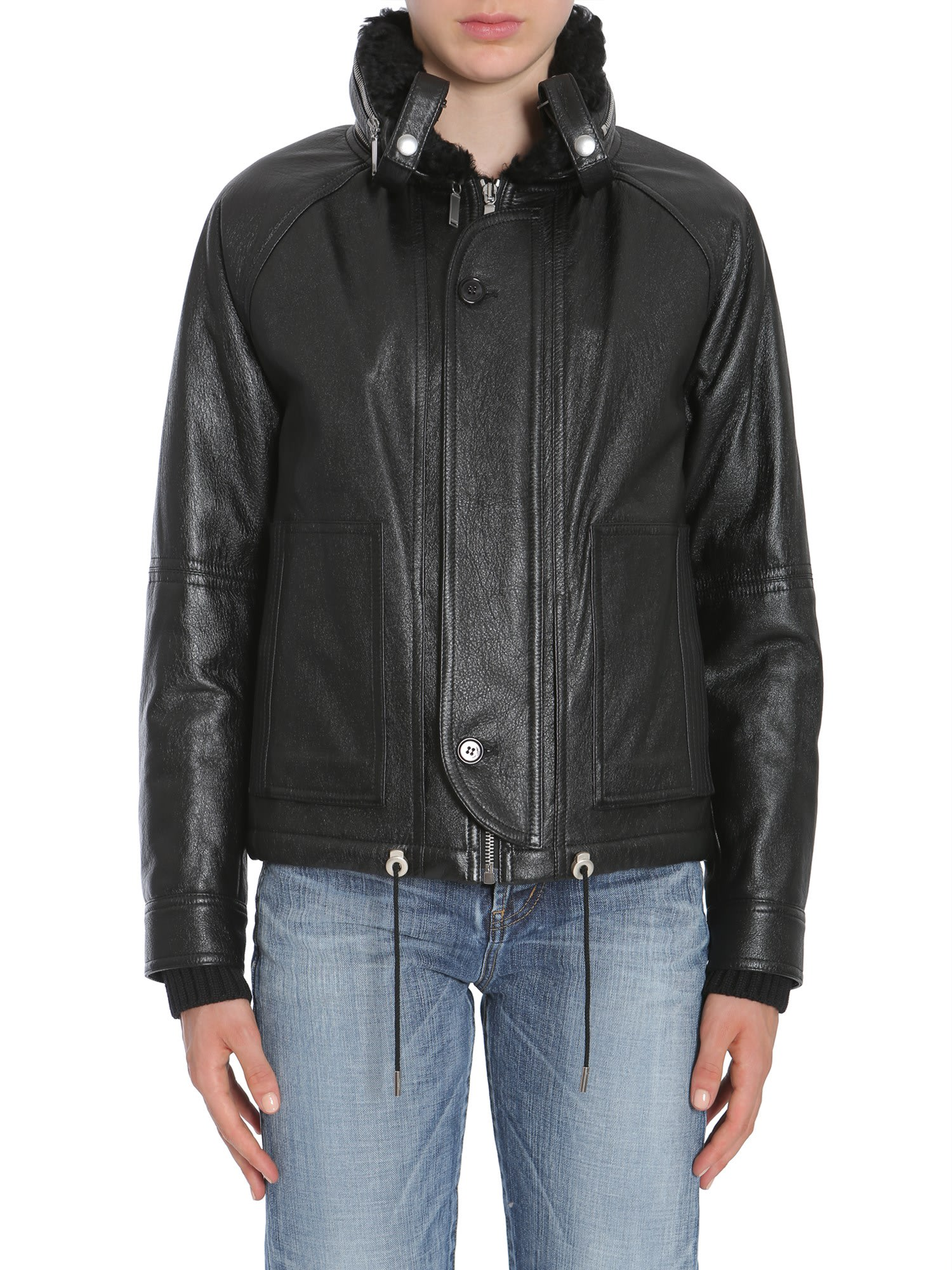 d780daaea Saint Laurent Leather Bomber Jacket