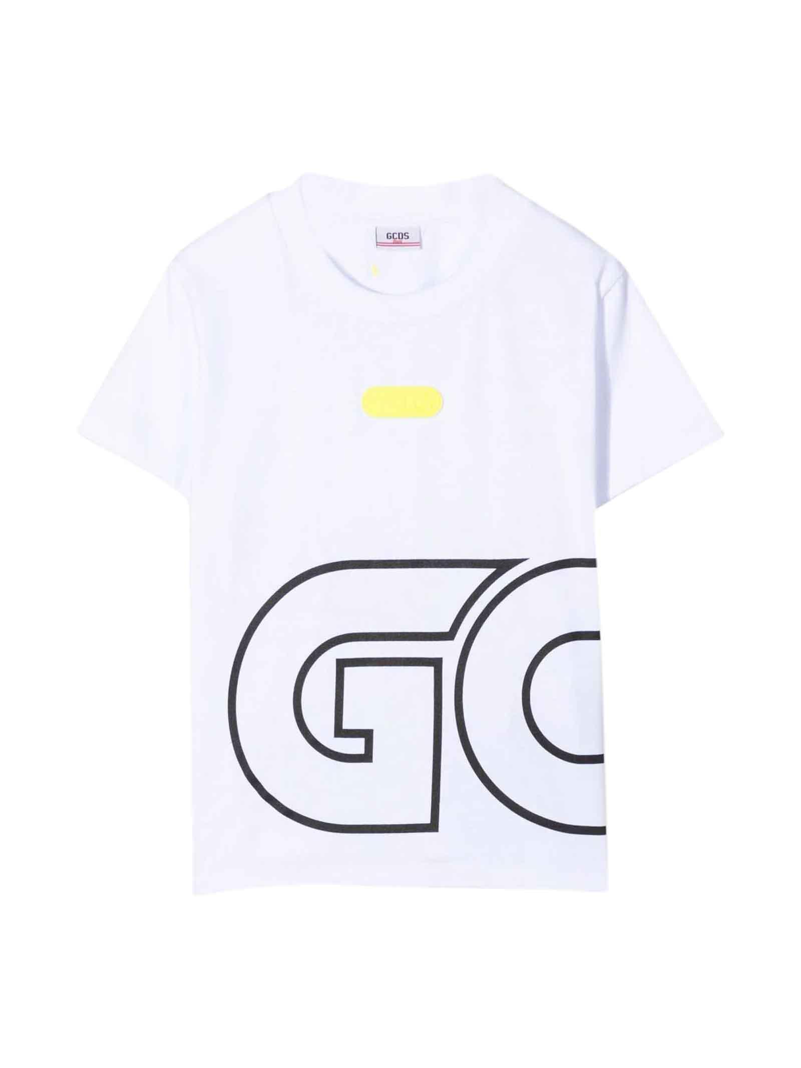 White Teen T-shirt With Black Print