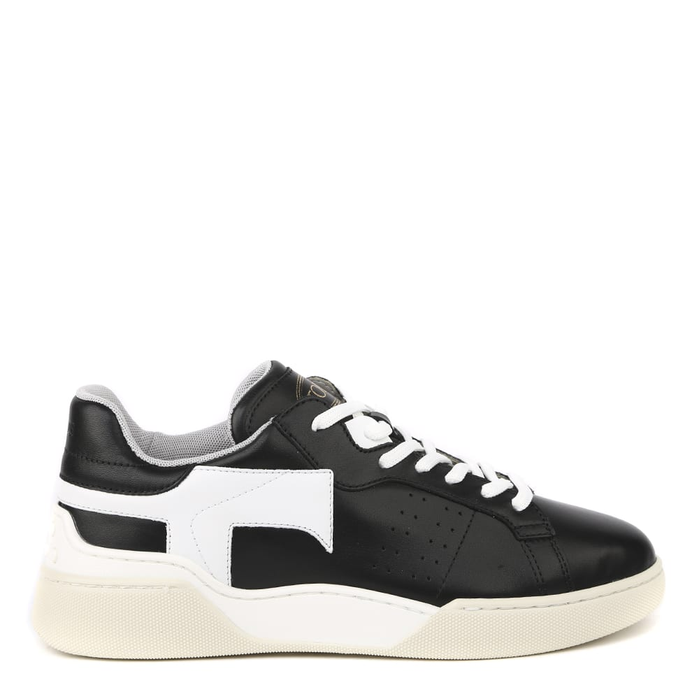 Tods Black And White Leather Sneakers