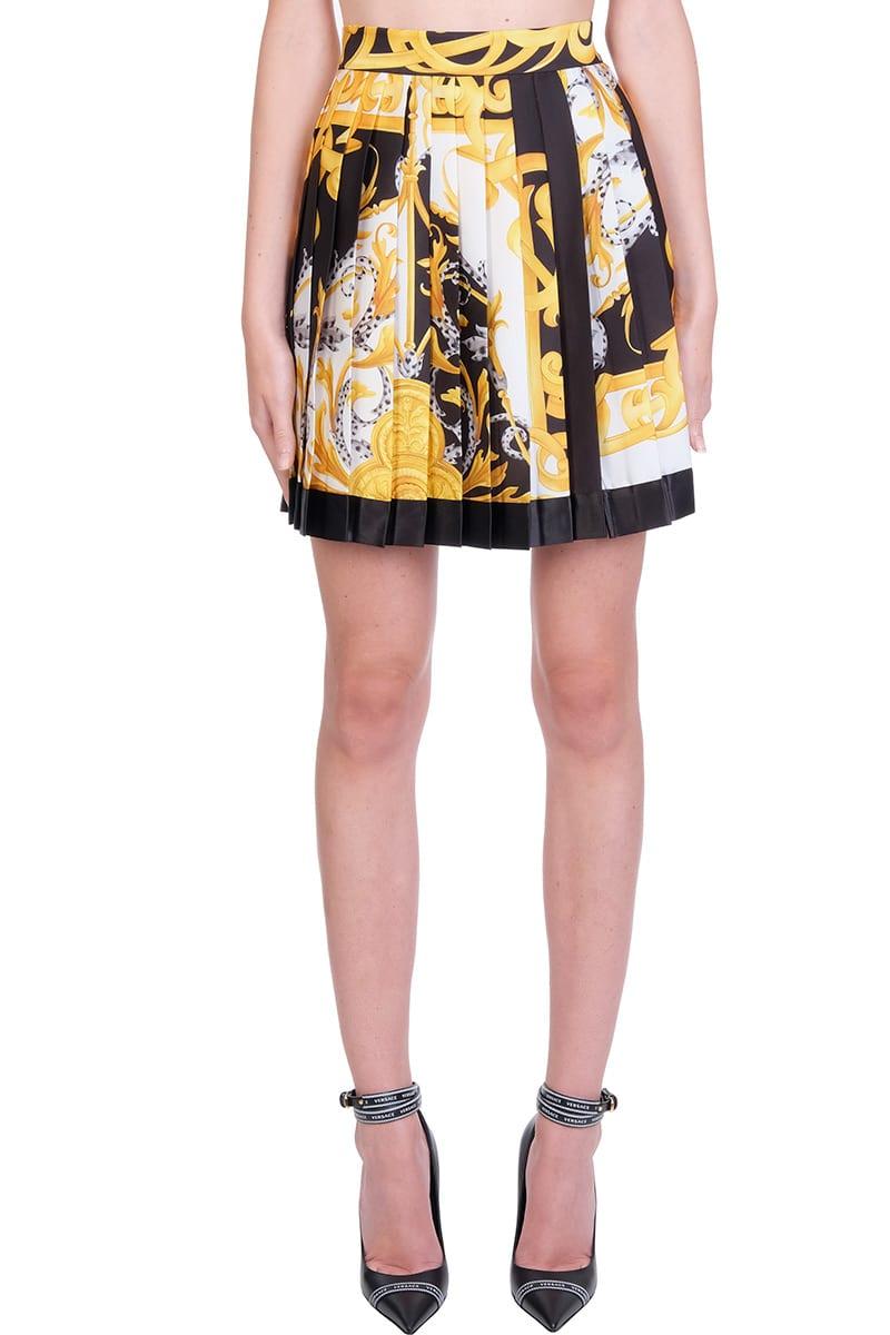 Versace Skirt In White Silk