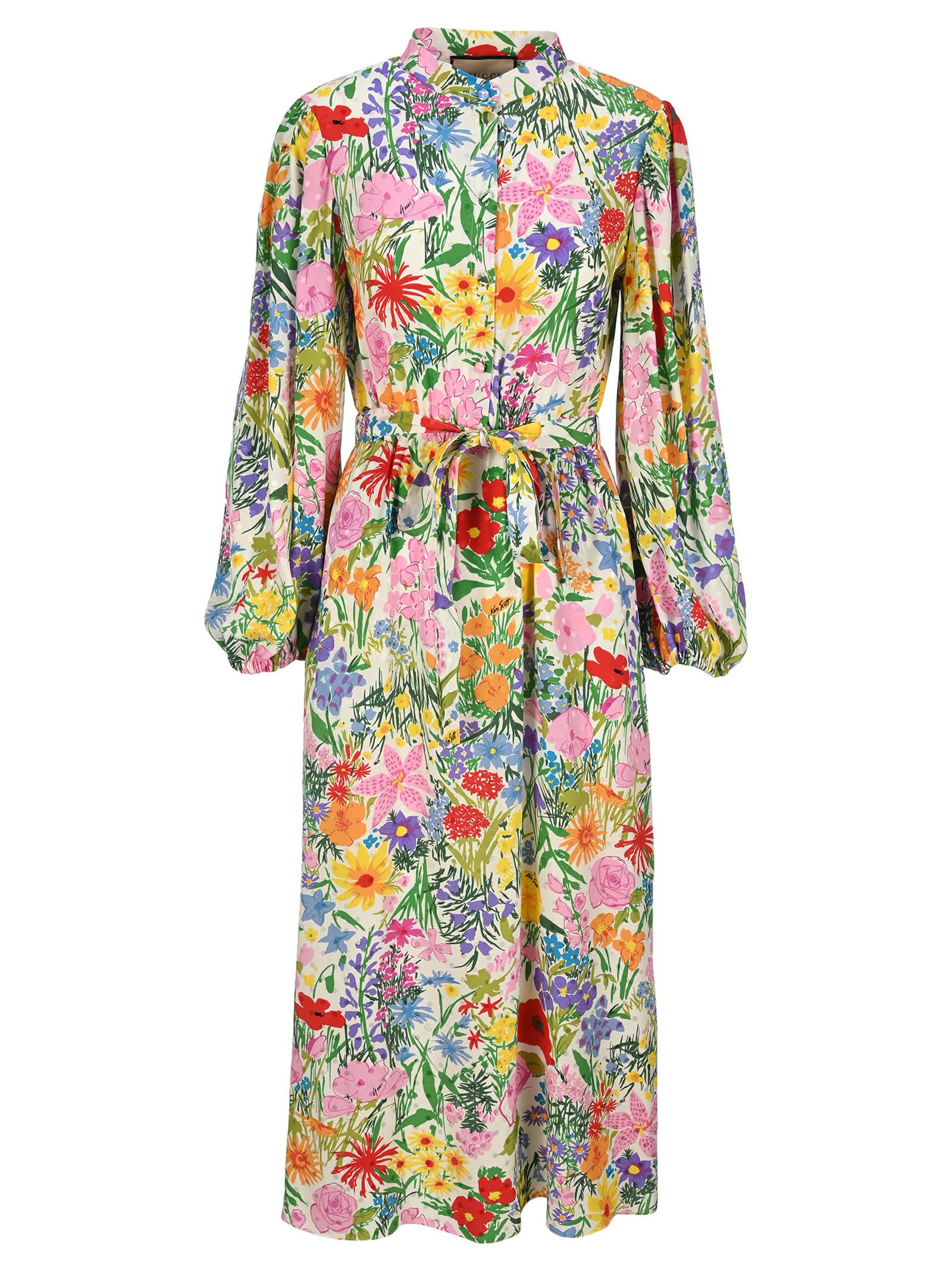 Ken Scott Print Silk Dress
