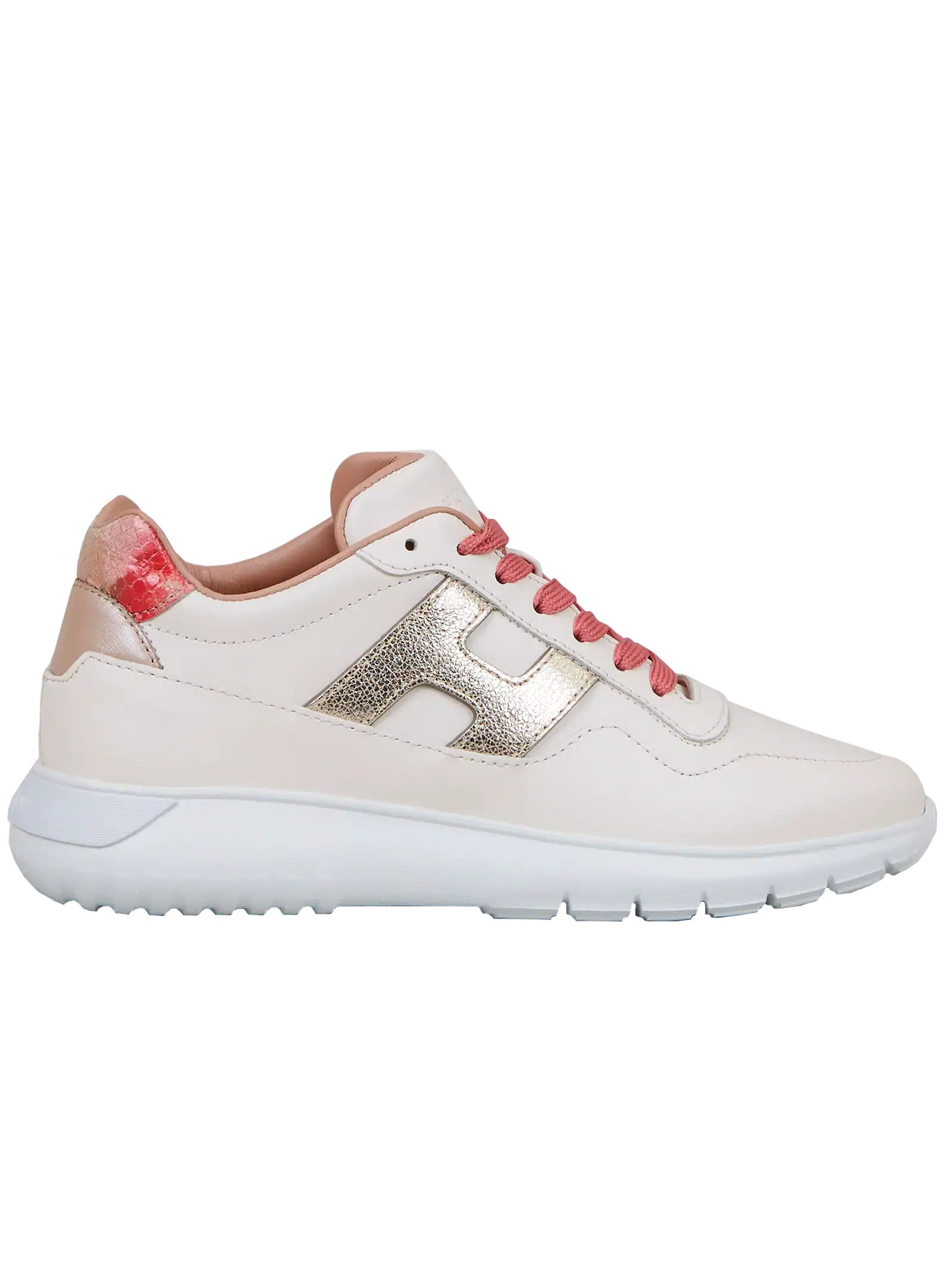 Hogan White Leather Interactive 3 Sneakers