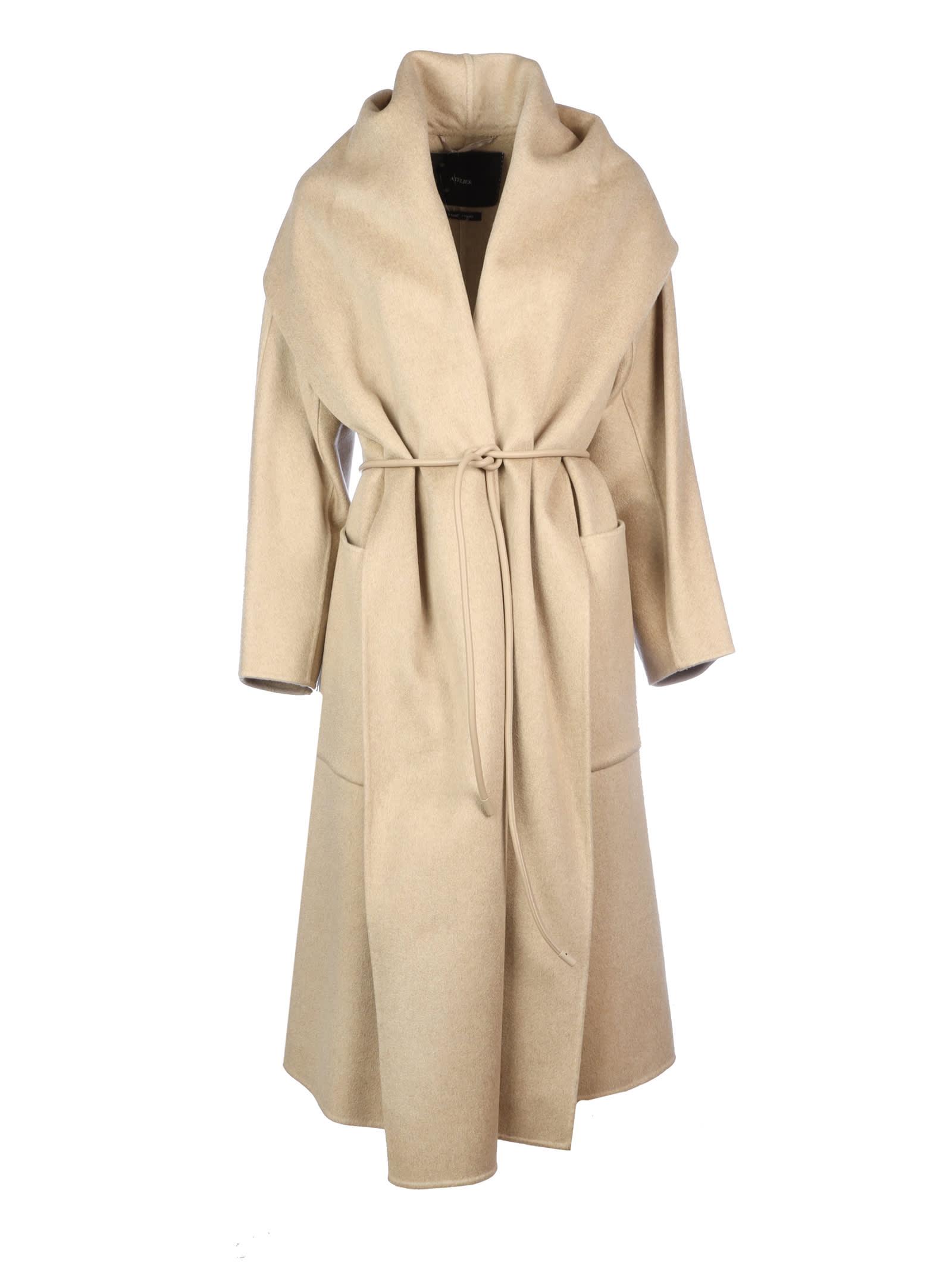 Photo of  Max Mara Disegno Line Atelier Over /collo Scialle- shop Max Mara jackets online sales