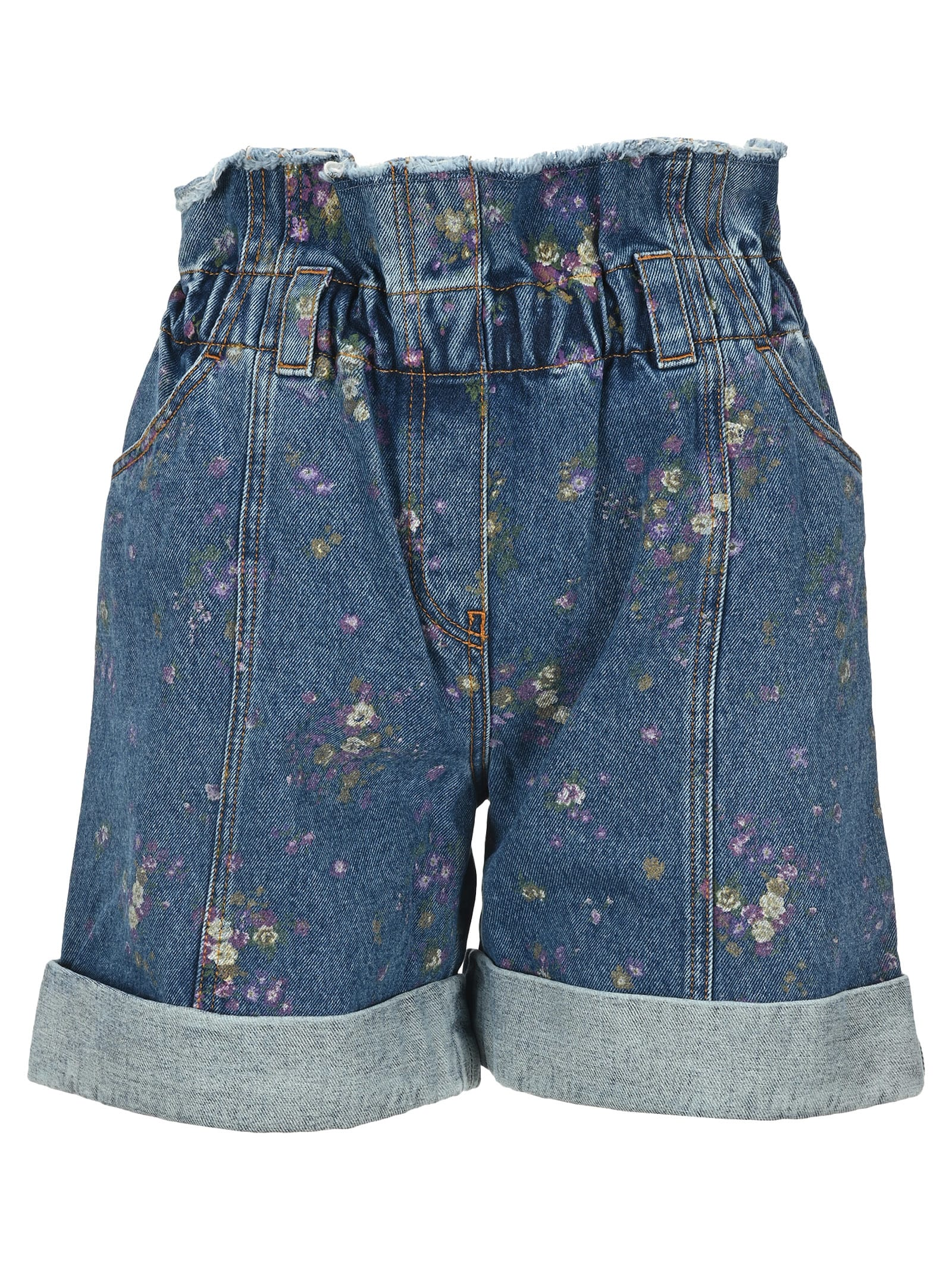 Philosophy Floral-print Denim Shorts