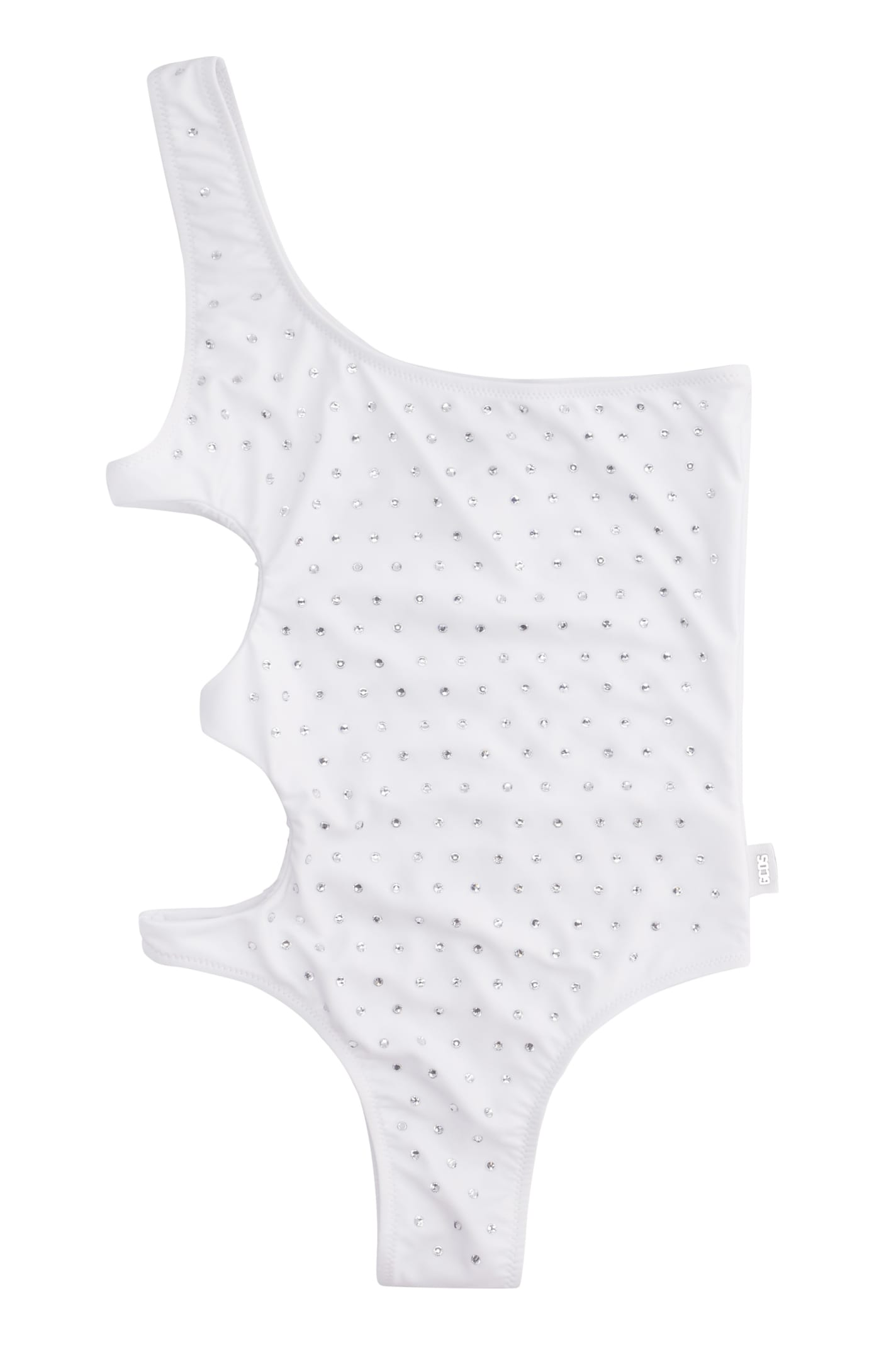 Gcds One-shoulder Swimsuit In White