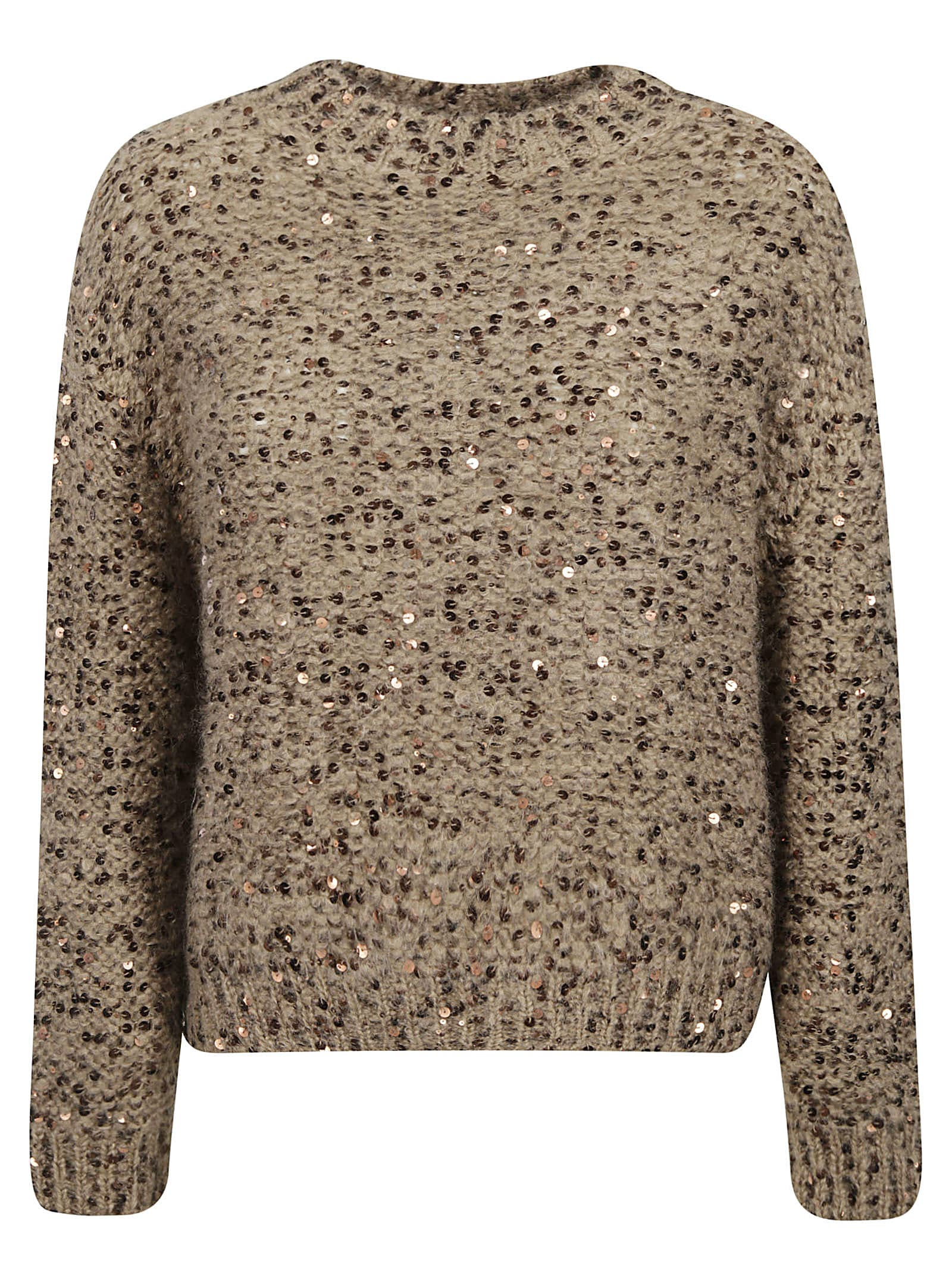 Brunello Cucinelli Sequin-coated Sweater