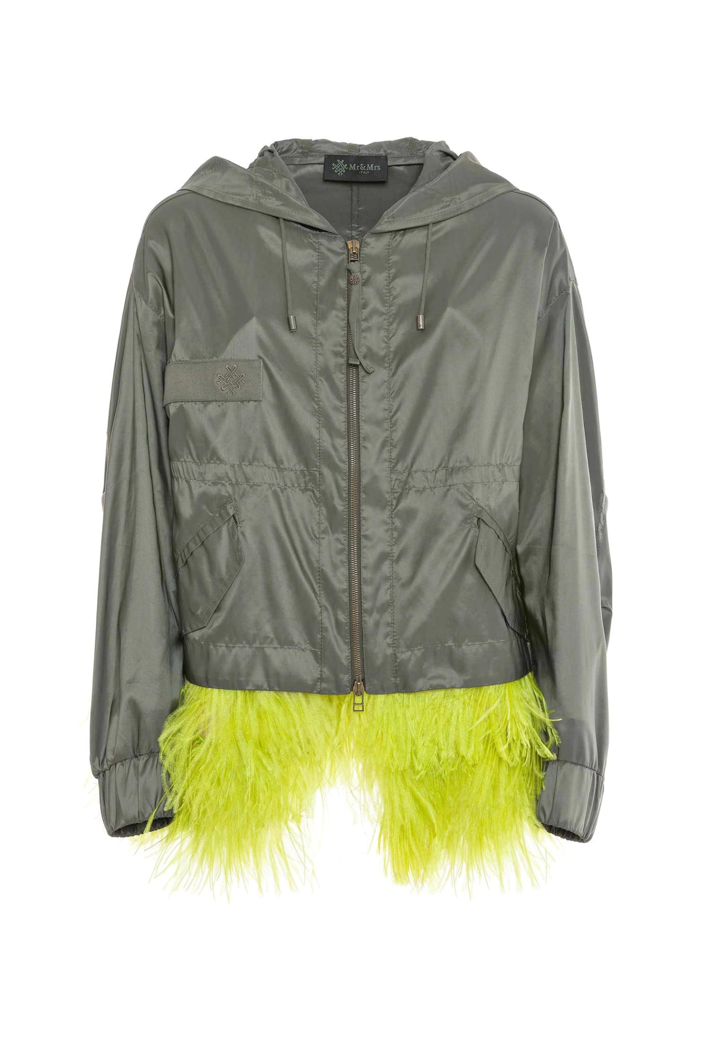 Jacket With Feathers For Woman
