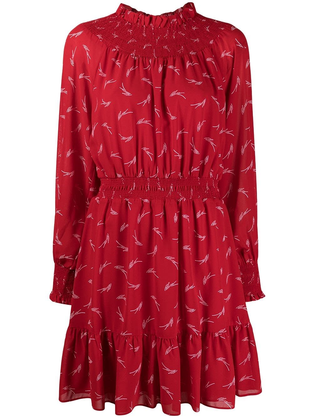 Michael Michael Kors FLARED RED DRESS