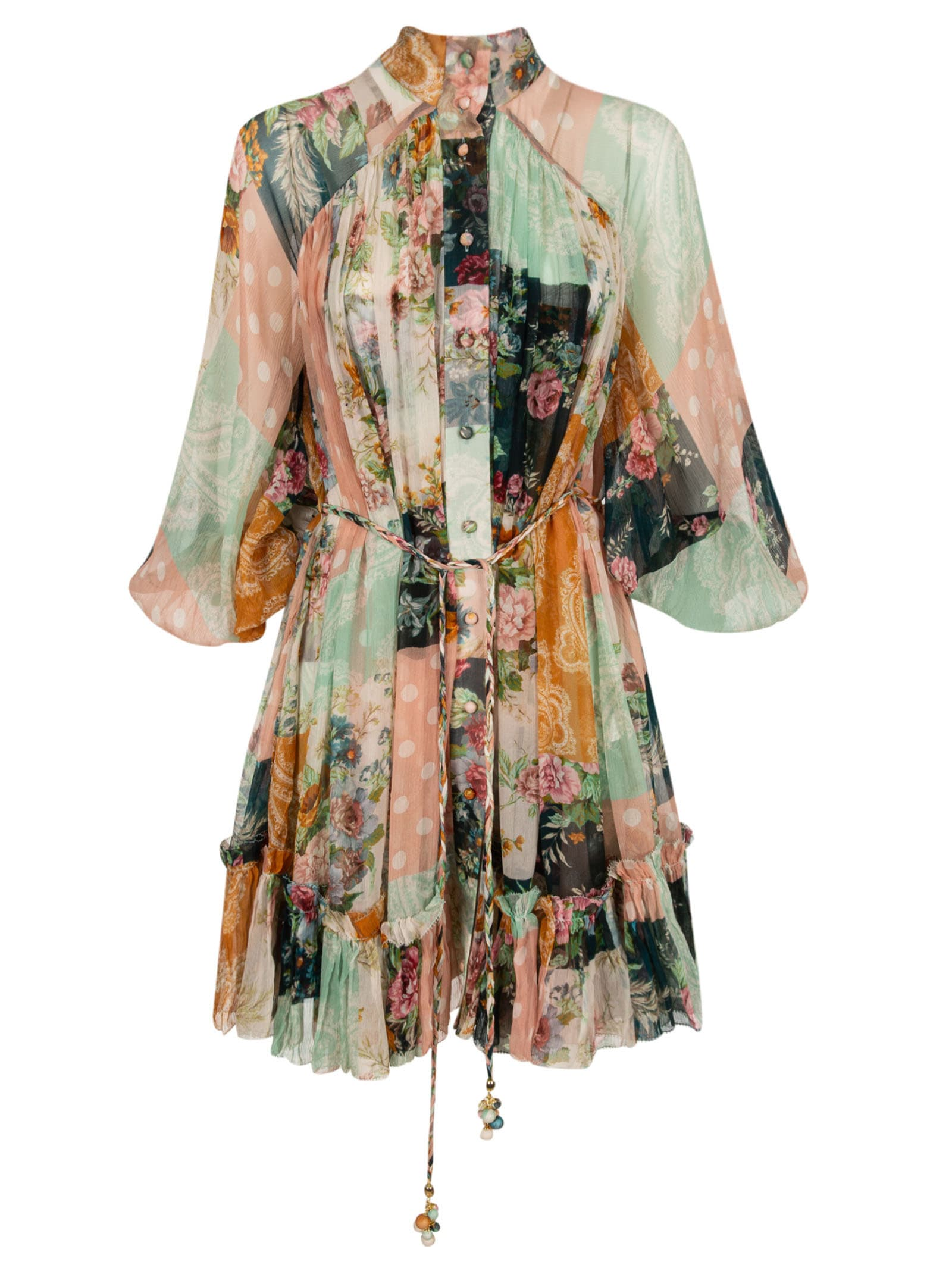 Buy Zimmermann Patchwork Floral Print Dress online, shop Zimmermann with free shipping