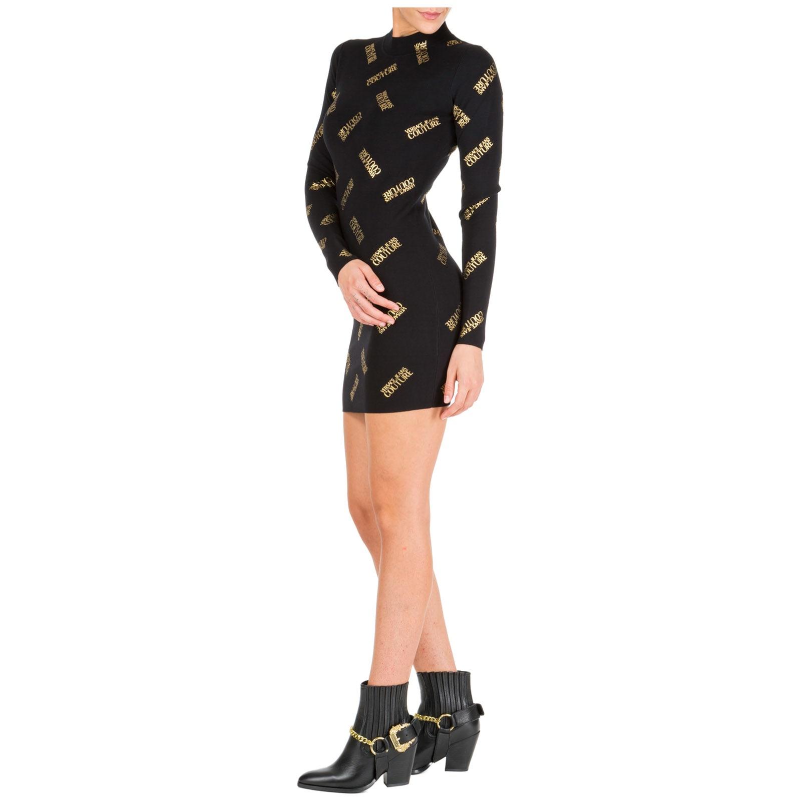 Versace Jeans Couture Short Mini Dress Long Sleeve