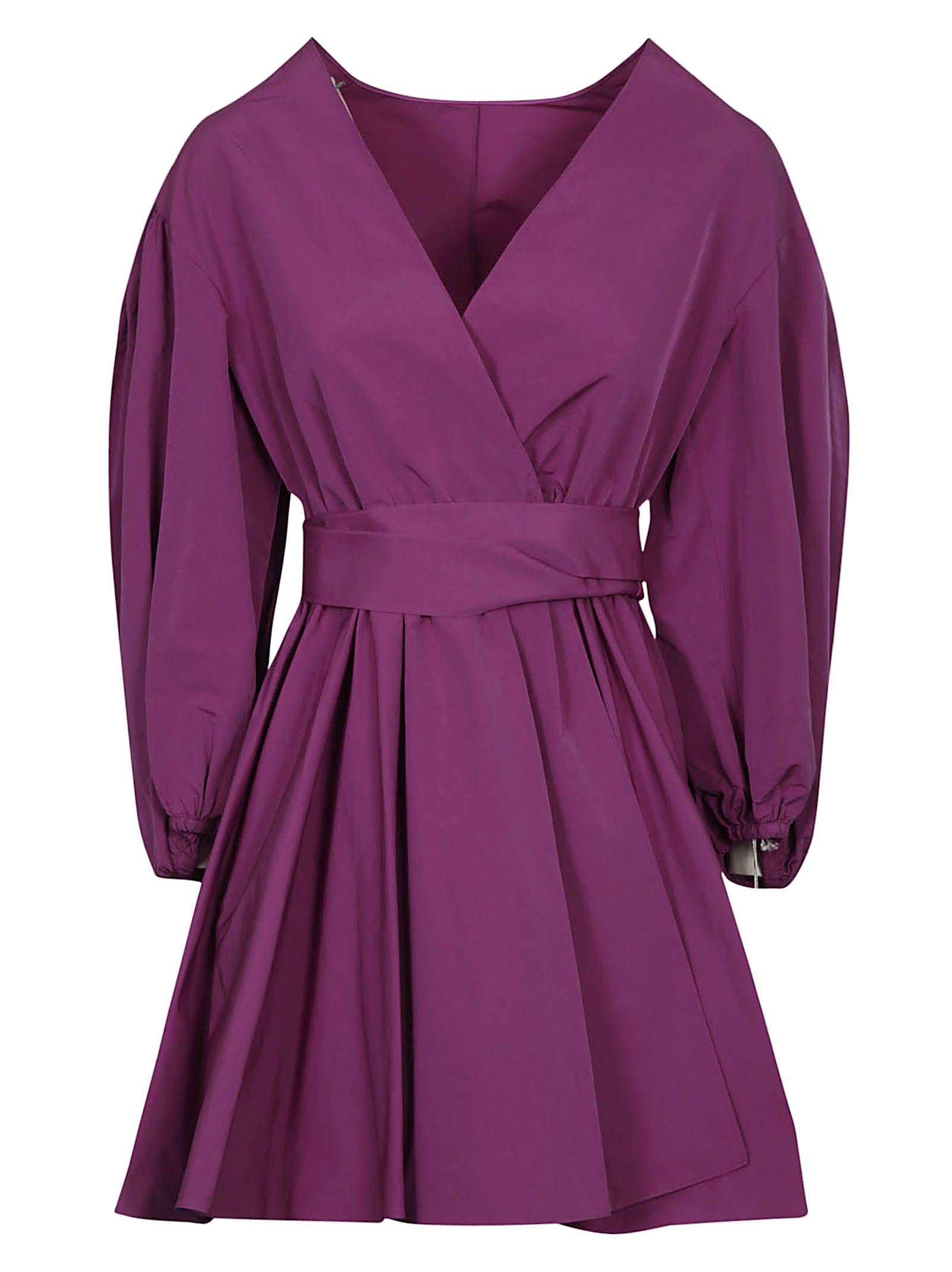 Buy Valentino V-neck Short Wrap Dress online, shop Valentino with free shipping