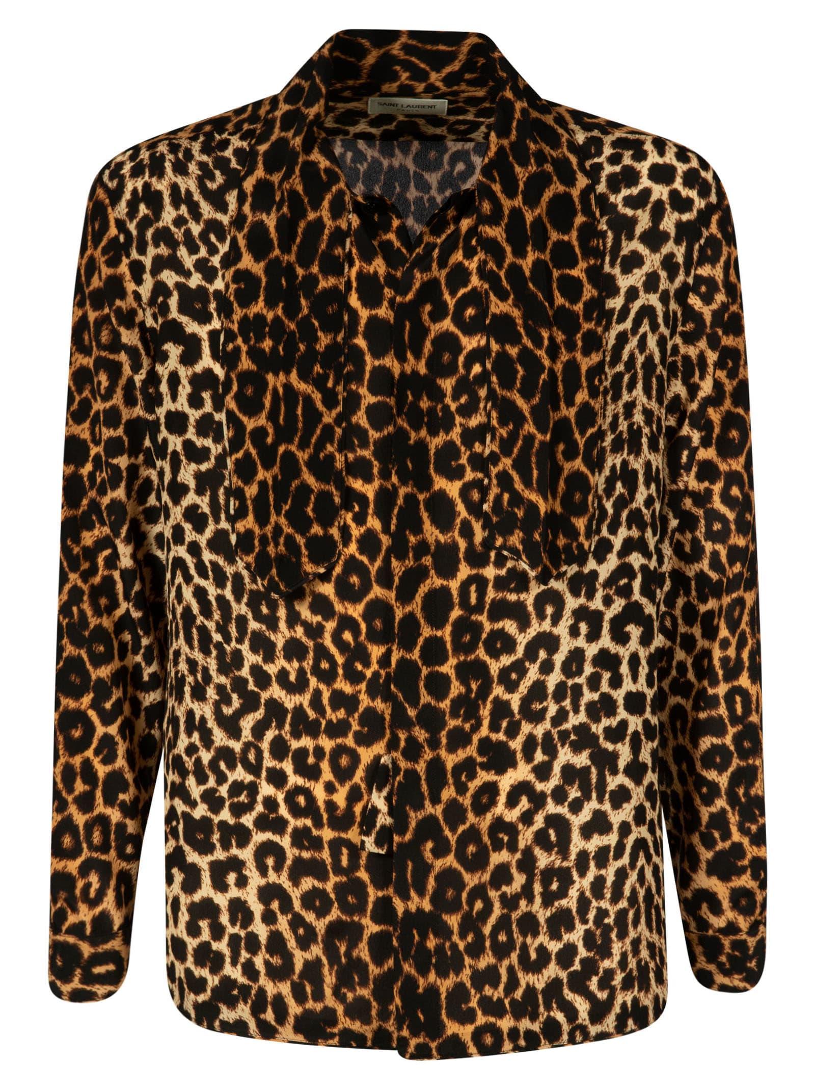 Saint Laurent Leopard Shirt