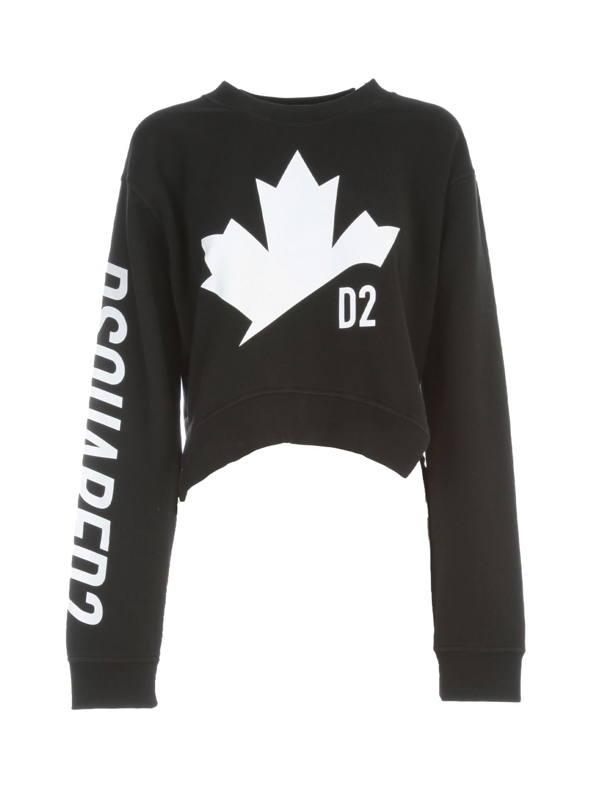Dsquared2 Leaf Asymmetrical Sweatshirt