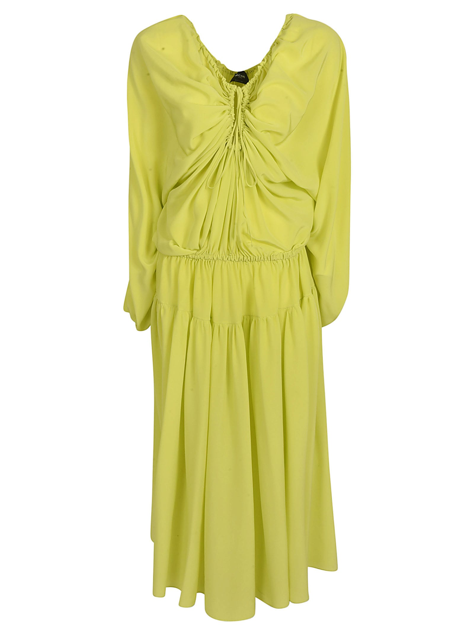 Buy Rochas Front Gathered Maxi Dress online, shop Rochas with free shipping
