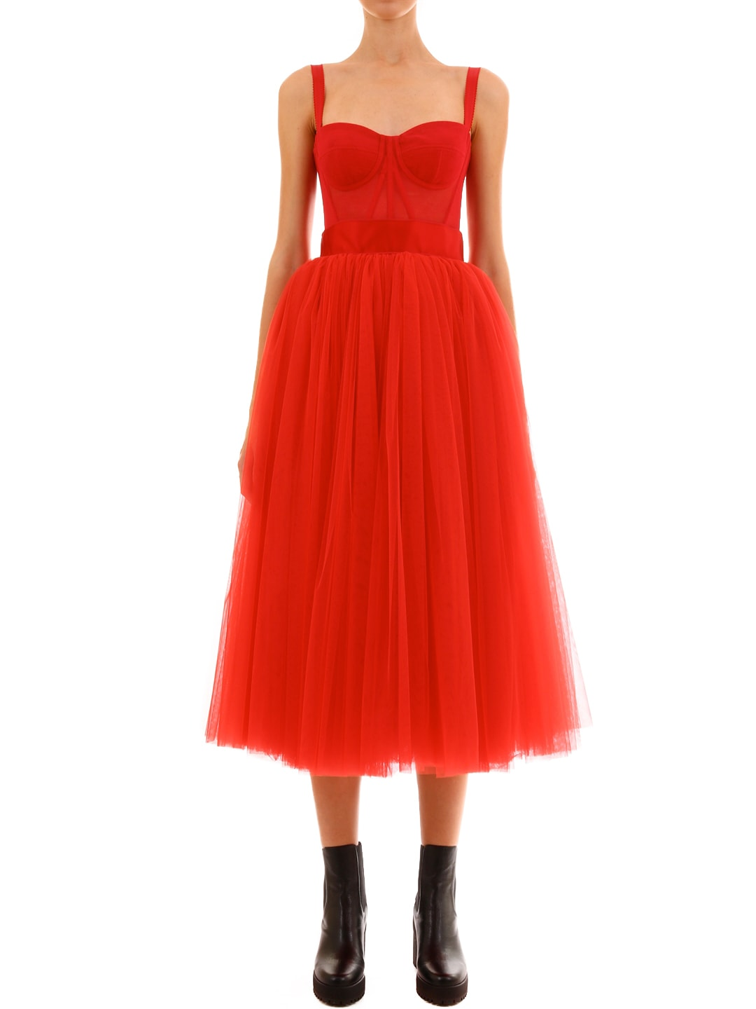 Dolce & Gabbana Doll Dress Red Tulle