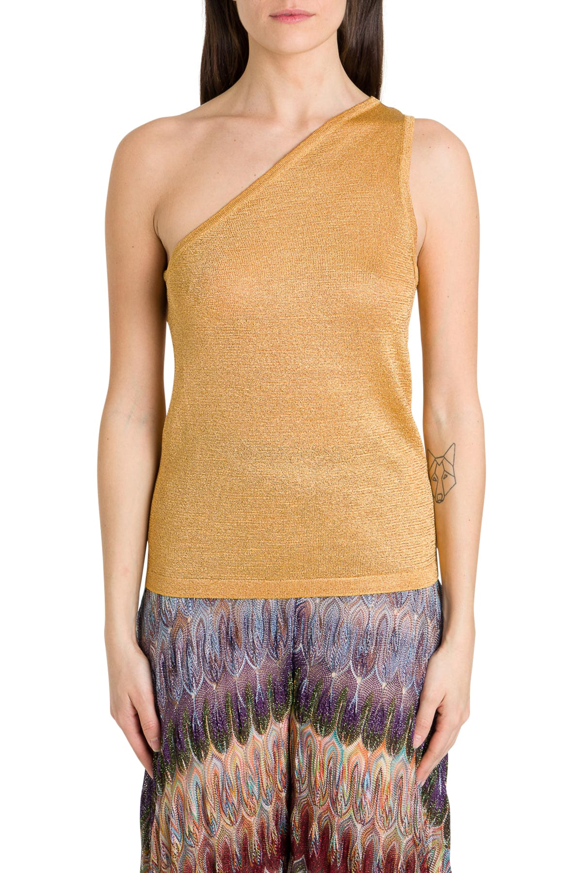 Missoni ONE-SHOULDER FOIL TOP