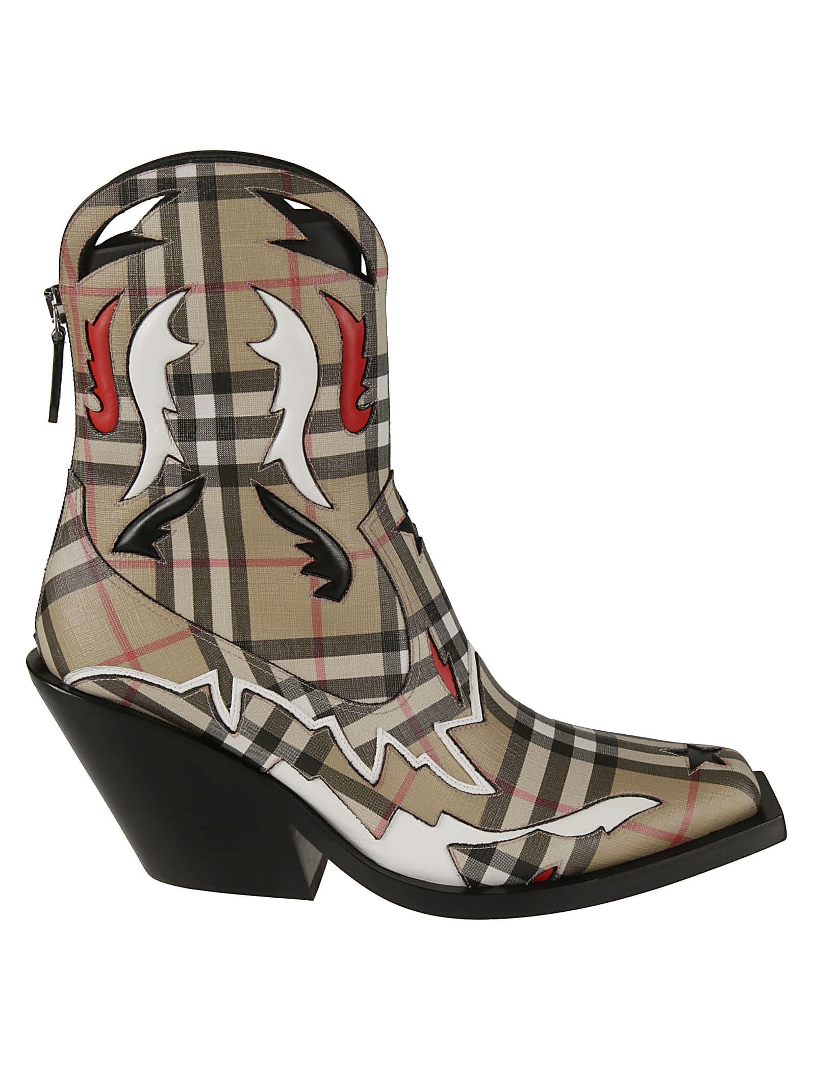 Burberry Checked Print Boots