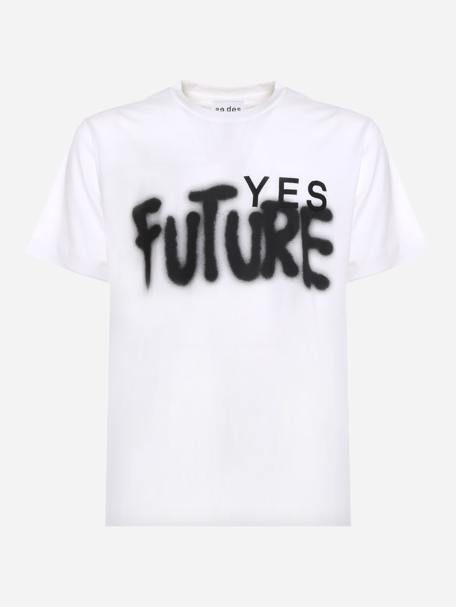Études Cotton T-shirt With Contrasting Yes Future Print