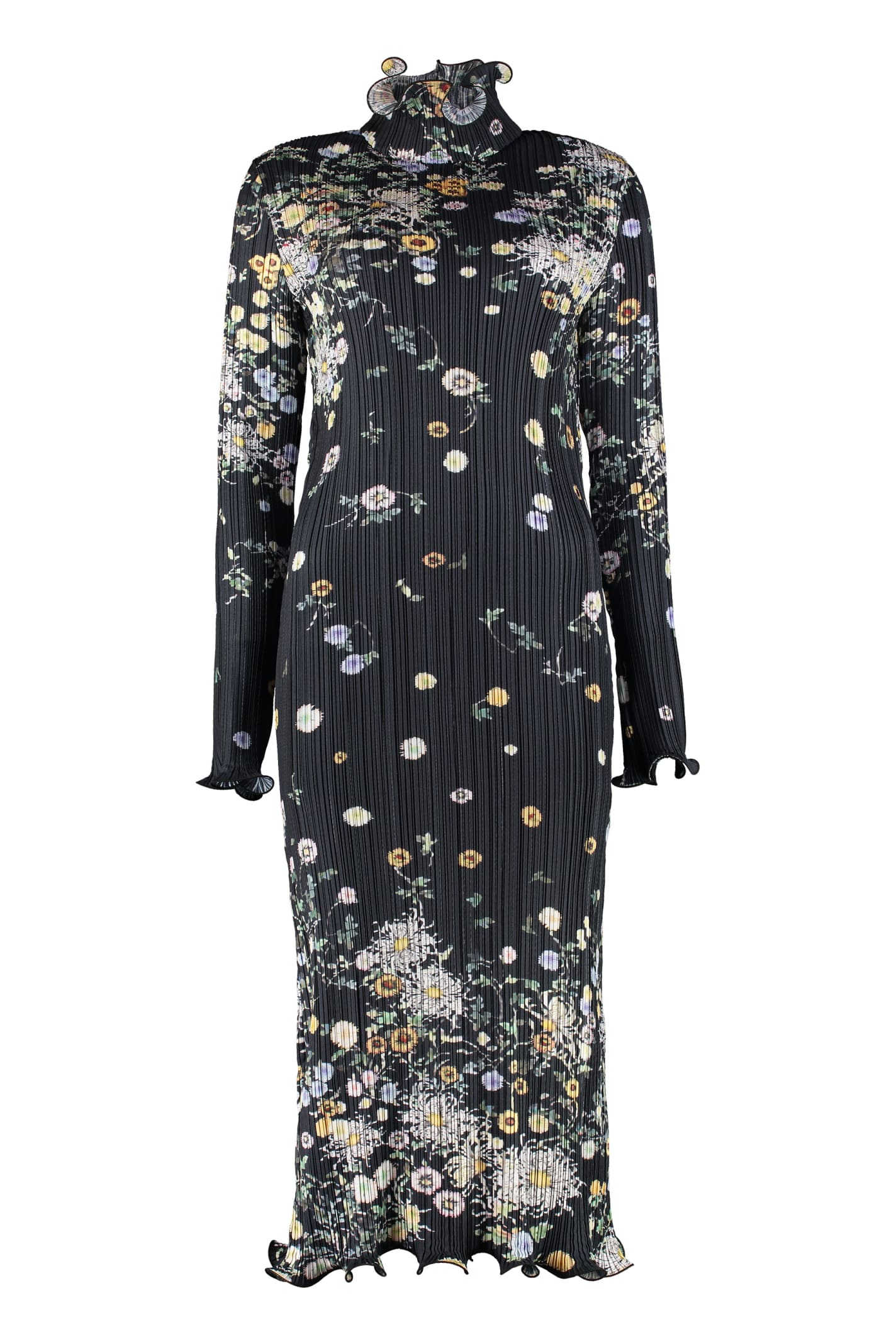 Buy Givenchy Floral Print Pleated Dress online, shop Givenchy with free shipping