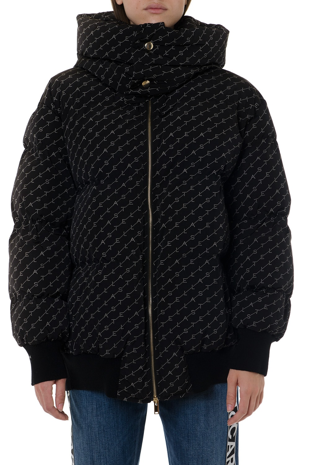 Stella McCartney Samara Black Down Jacket With Monogram