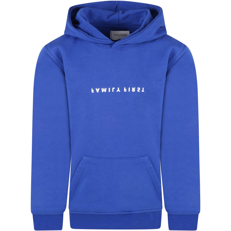 Royal Blue Sweatshirt For Kids With Logo