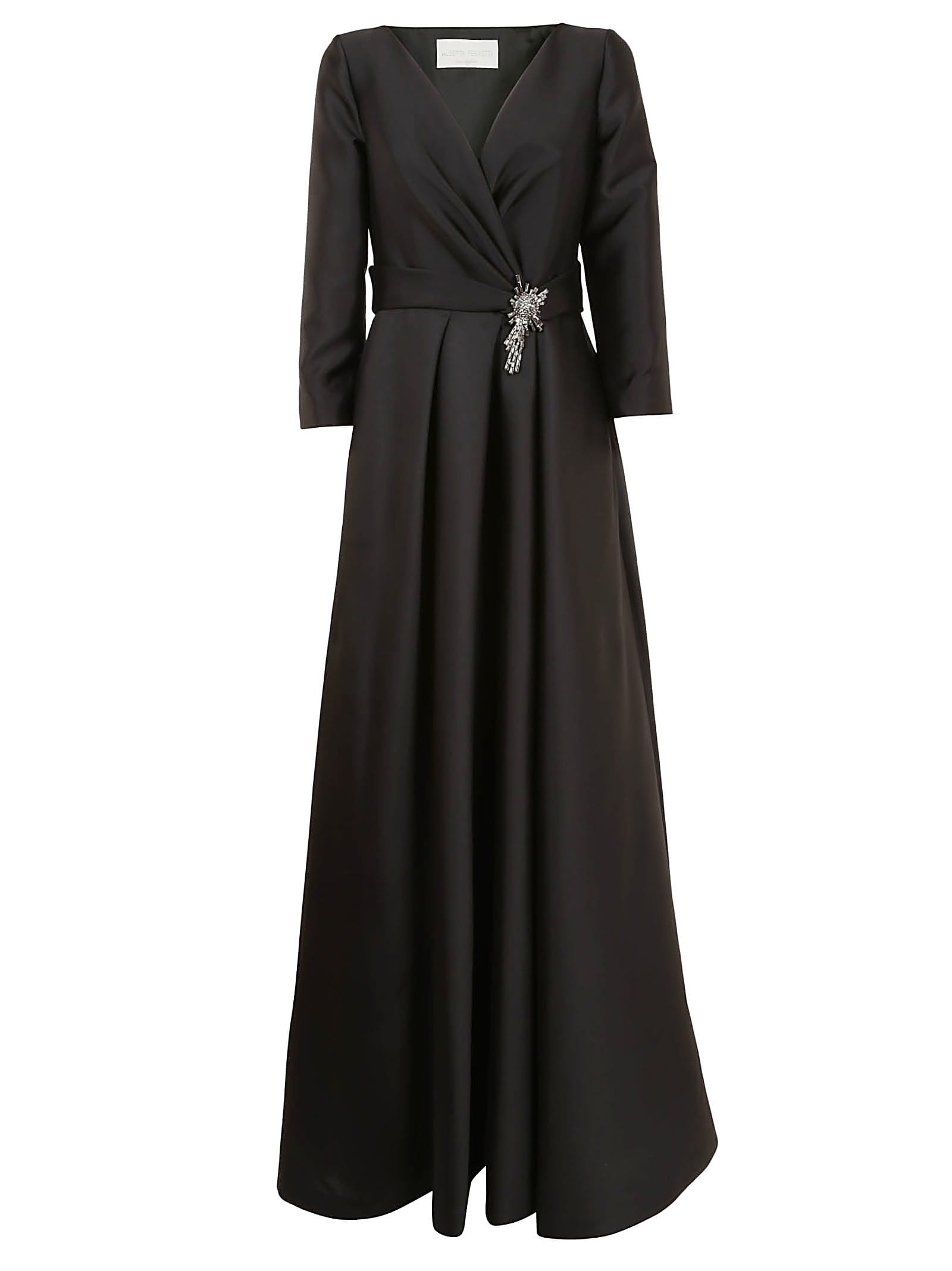Alberta Ferretti Belted Wrapped Dress