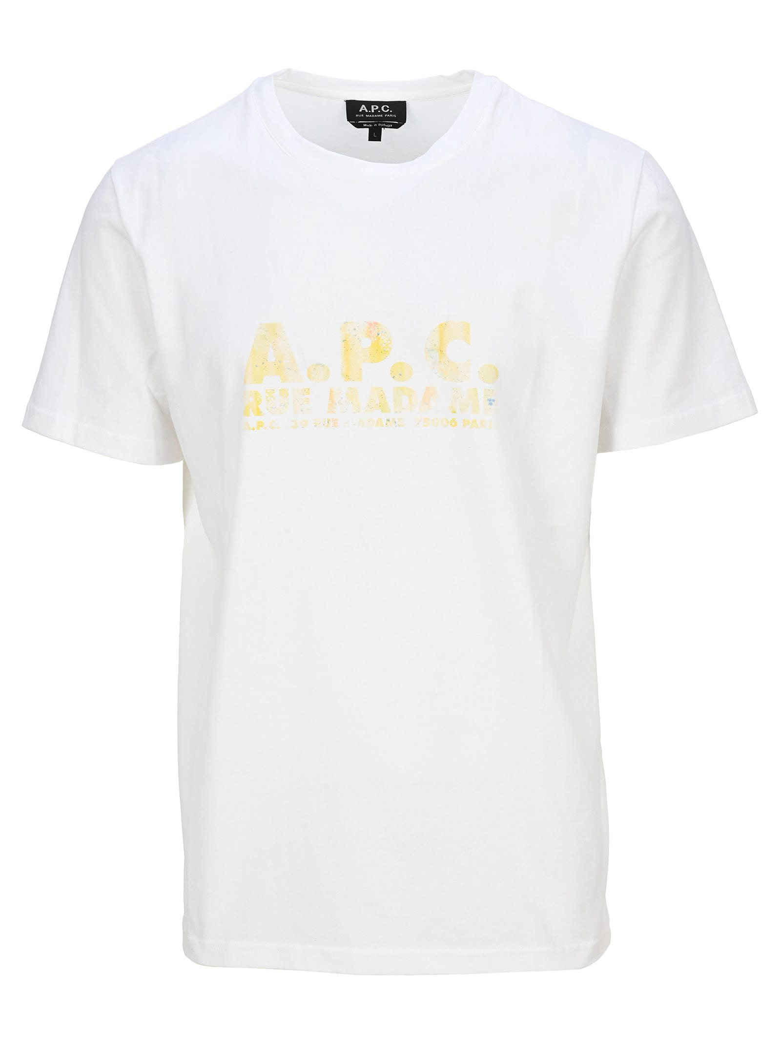 A.p.c. A.P.C. LOGO-PRINT CREW NECK T-SHIRT