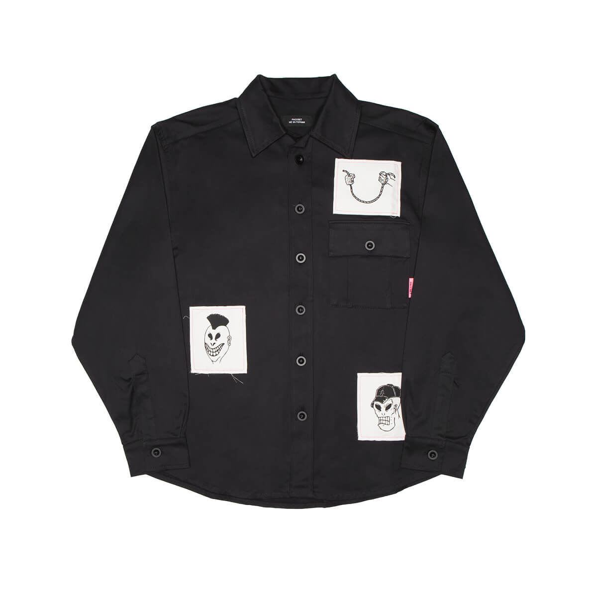 Paccbet PRINTED PATCHES SHIRT