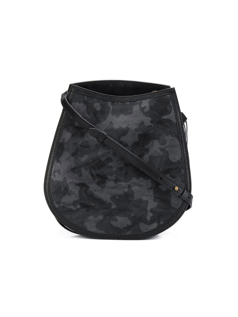 Mr & Mrs Italy HALF MOON CAMOUFLAGE LEATHER BAG