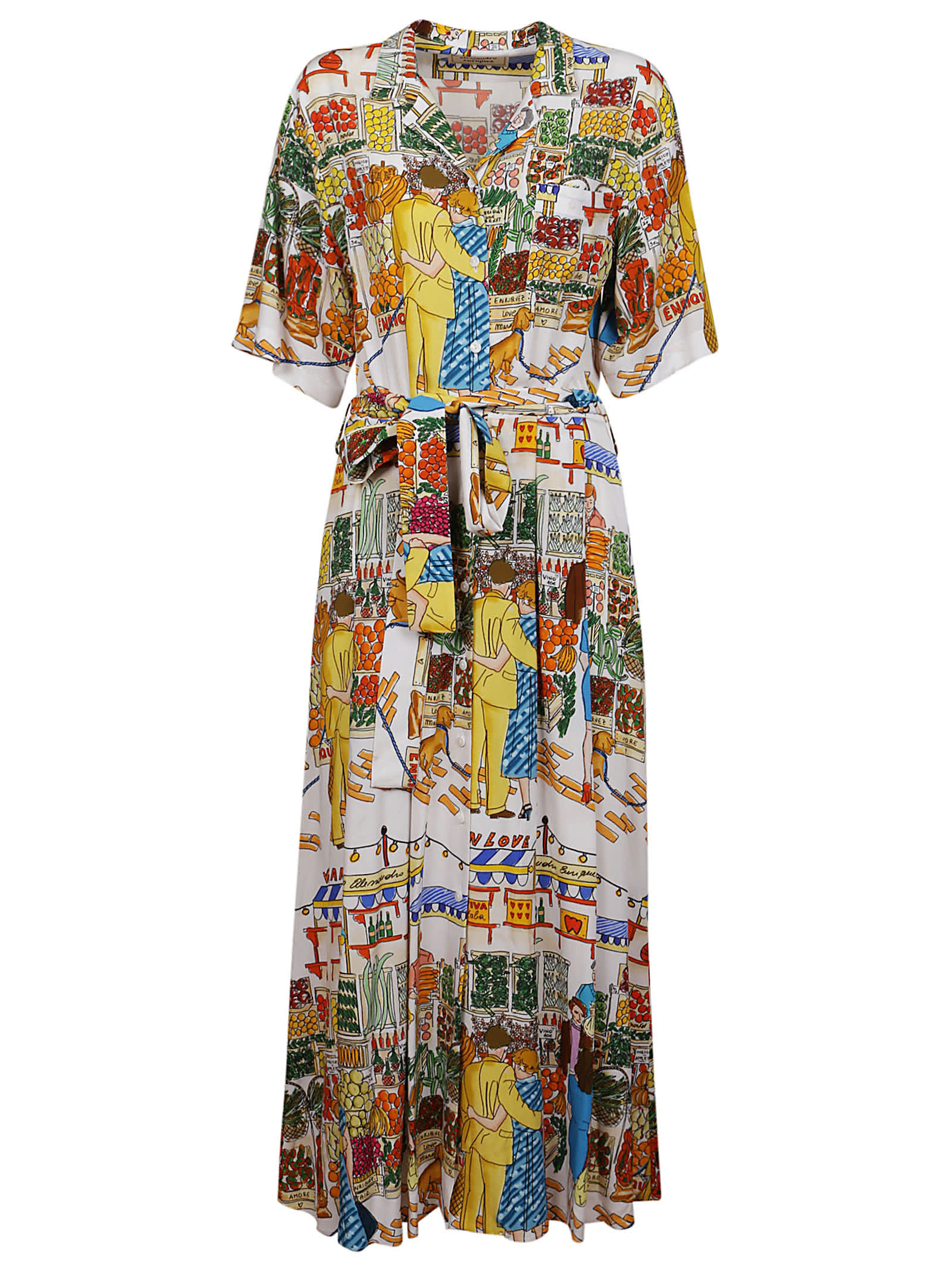 Alessandro Enriquez MULTICOLOR VISCOSE DRESS