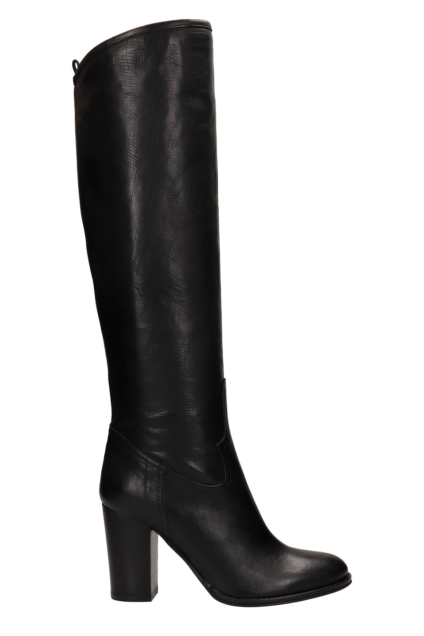 High Heels Boots In Black Leather