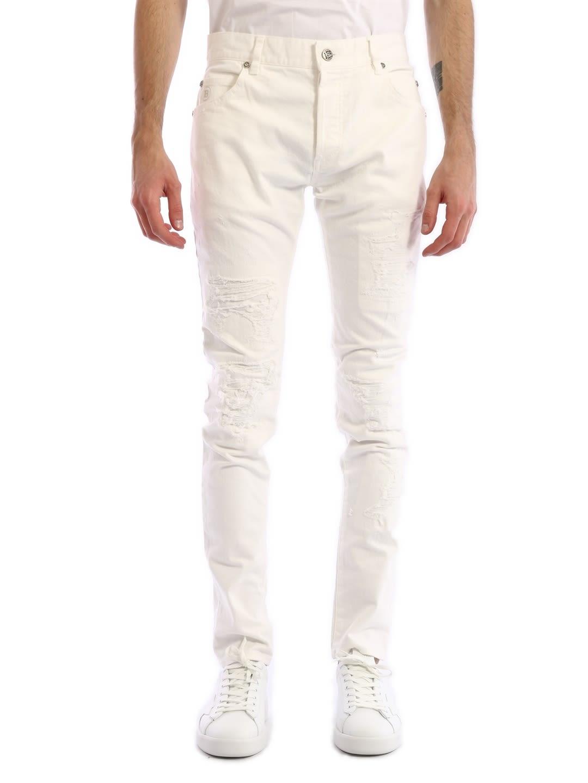 Balmain Skinny Jeans White