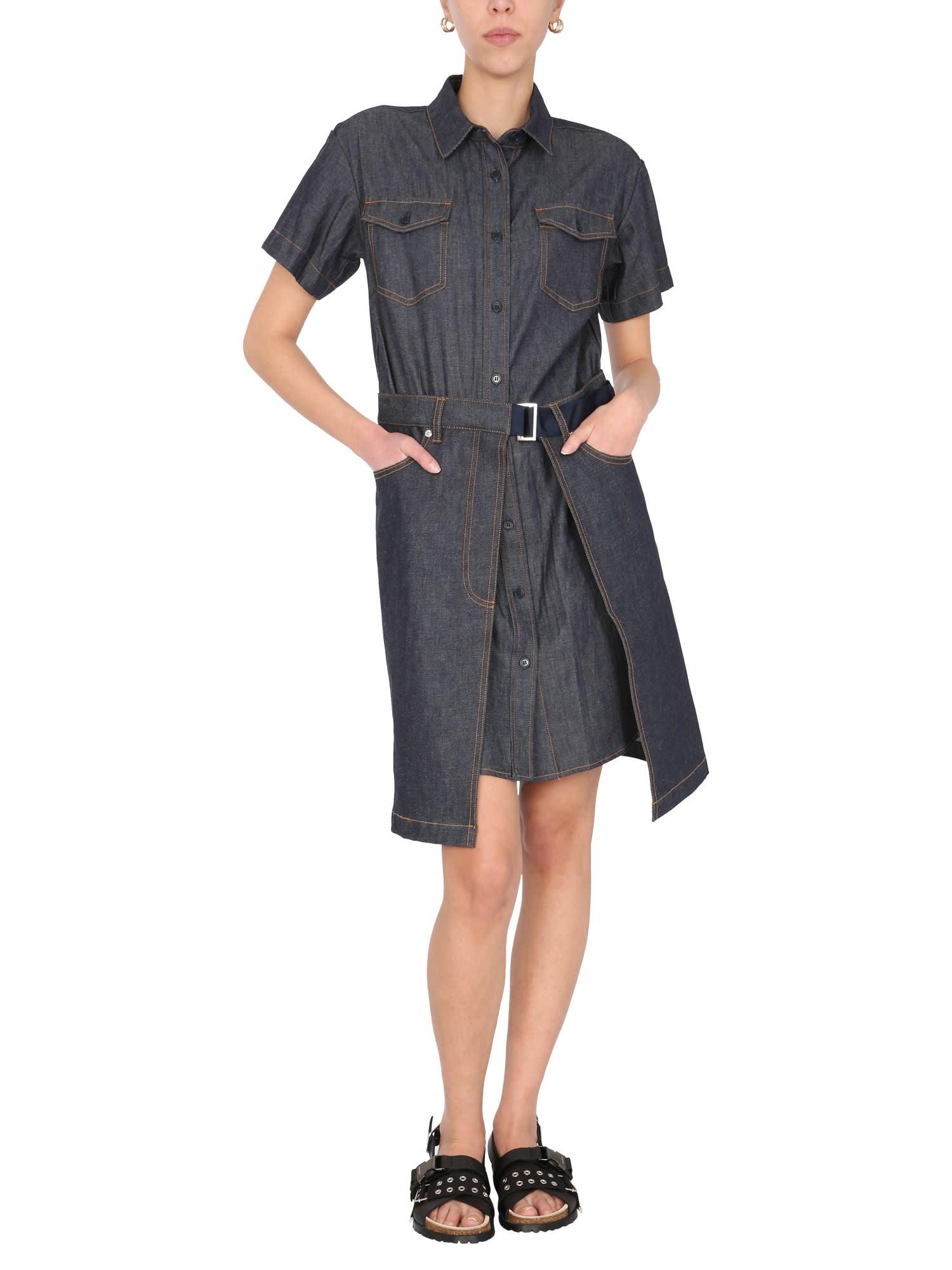 Buy A.P.C. x Sacai Robe Keiko Dress online, shop A.P.C. x Sacai with free shipping