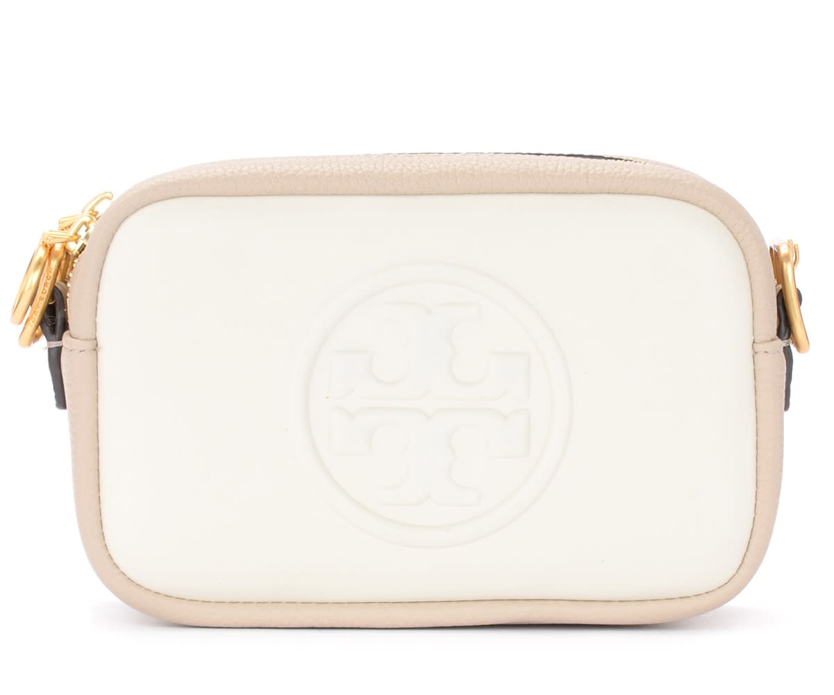 Tory Burch PERRY BOMBÈ CREAM BAG WITH SHOULDER STRAP