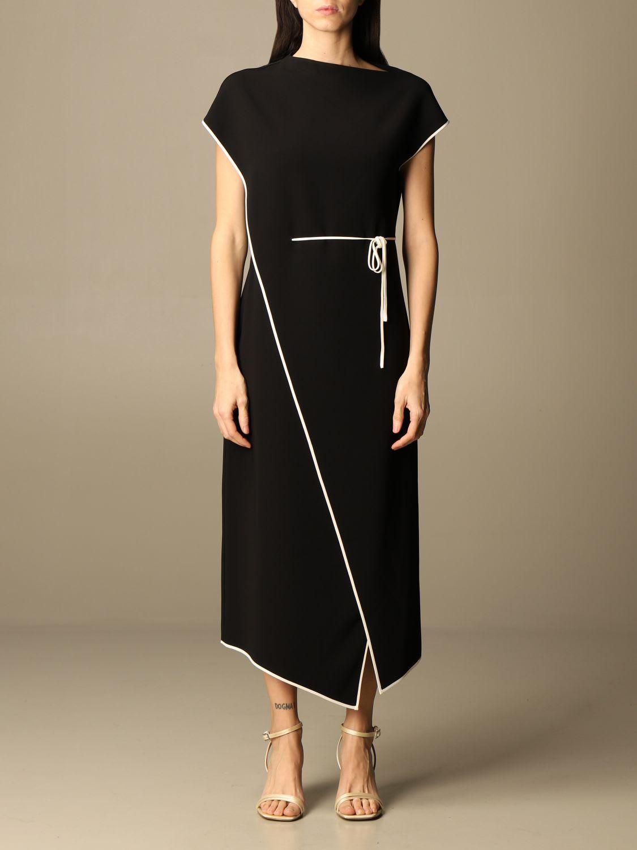 Theory Dress Theory Long Dress With Thin Belt