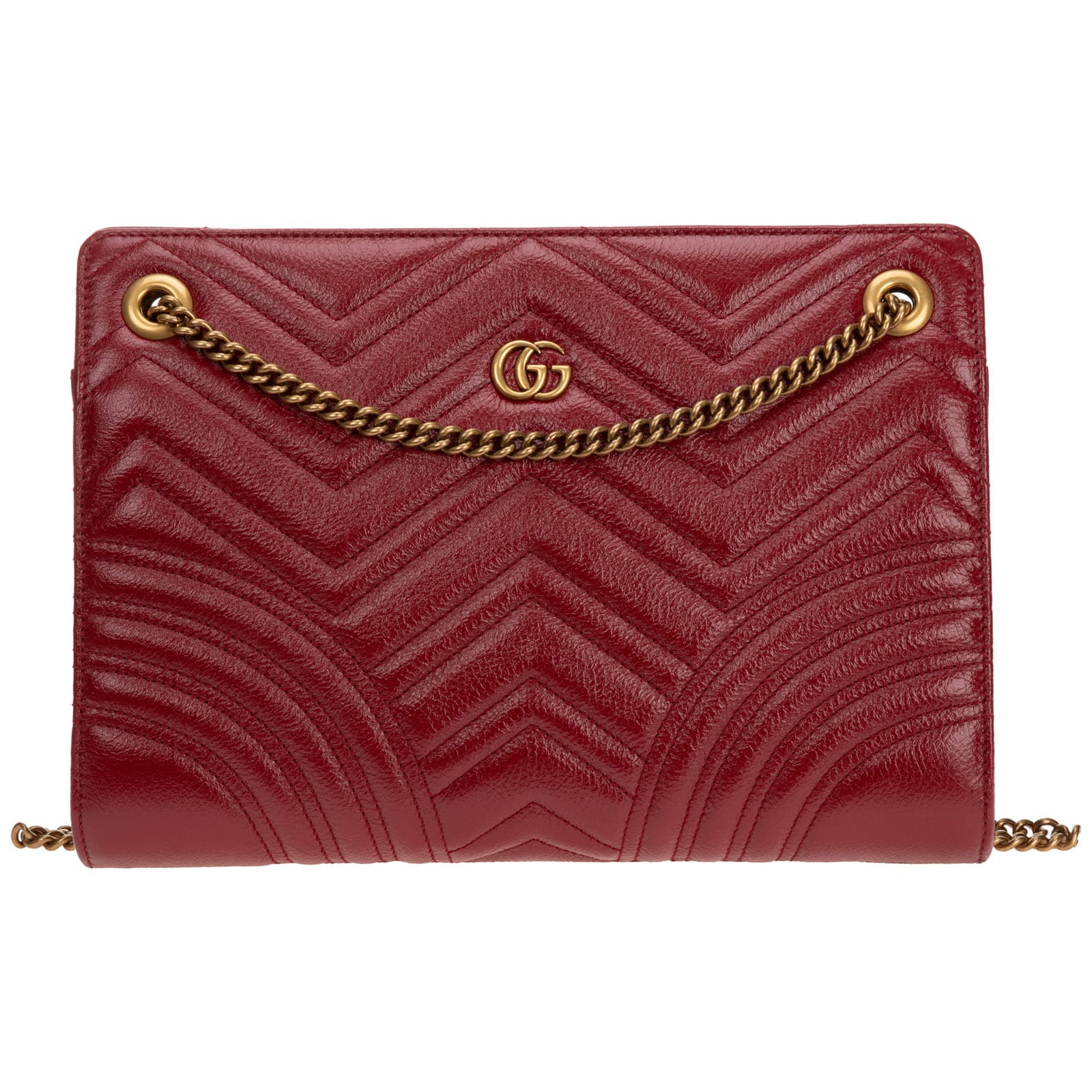Gucci Marmont Shoulder Bag In Rosso