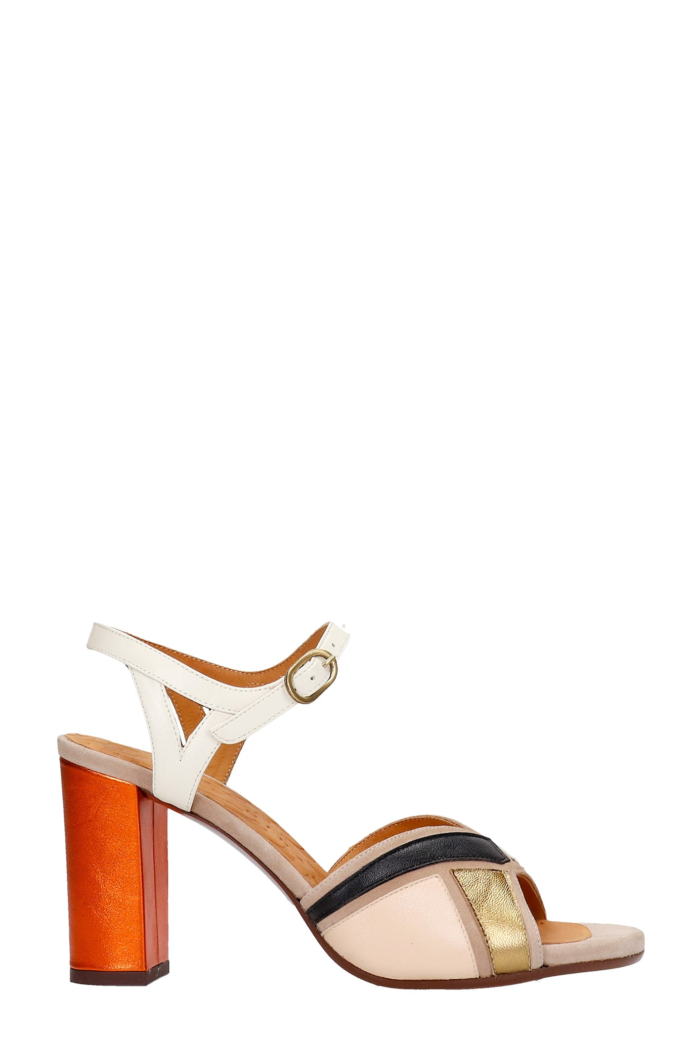 Chie Mihara BADRA SANDALS IN MULTICOLOR LEATHER