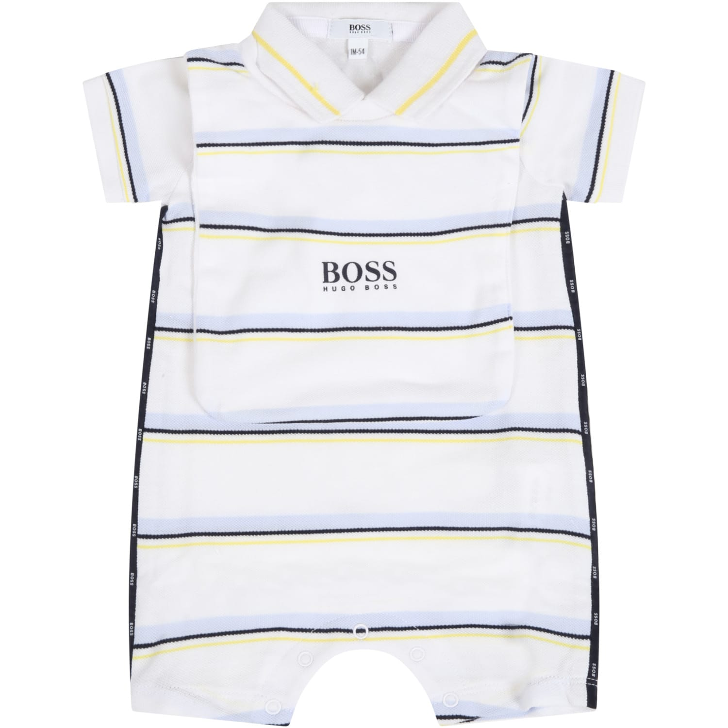 Hugo Boss Jumpsuits MULTICOLOR SET FOR BABYBOY WITH LOGO
