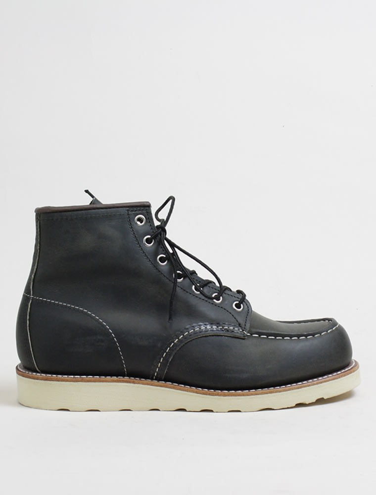 Red Wing Boot Leather Classic Moc Toe Charcoal Rough And Tough