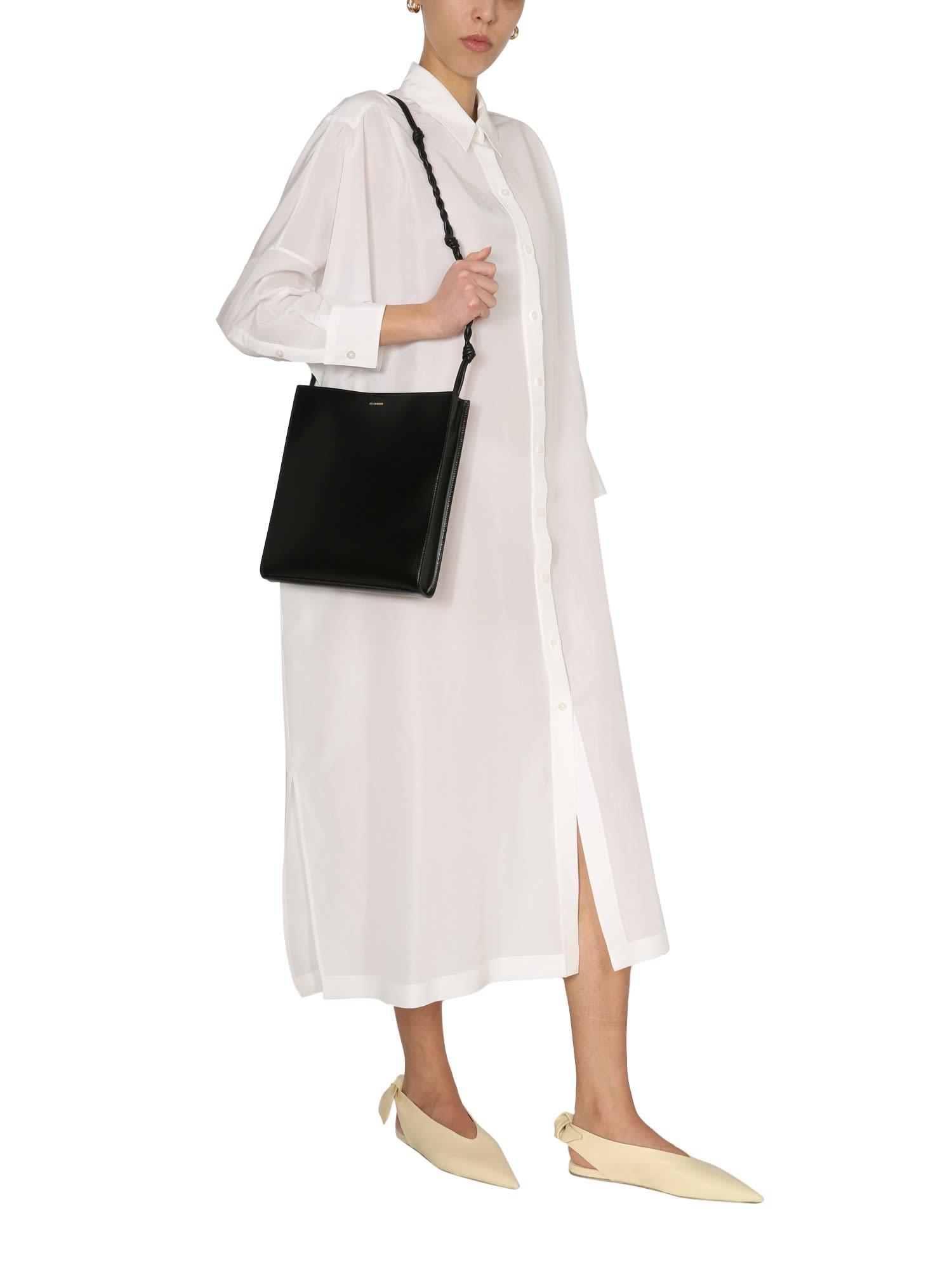 Buy Jil Sander Long Blend Cotton And Silk Dress online, shop Jil Sander with free shipping