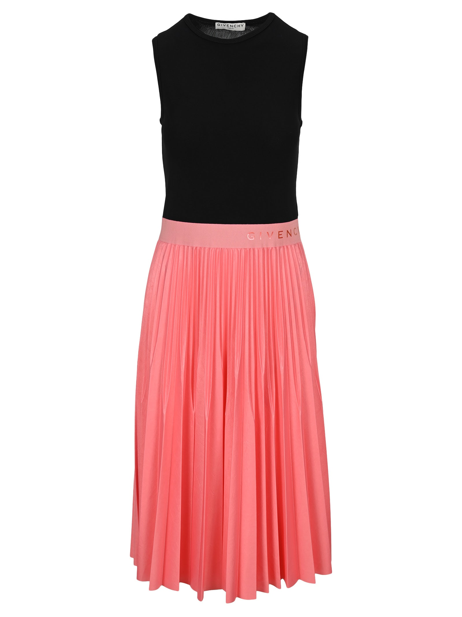 Buy Givenchy Two Tone Pleated Midi Dress online, shop Givenchy with free shipping
