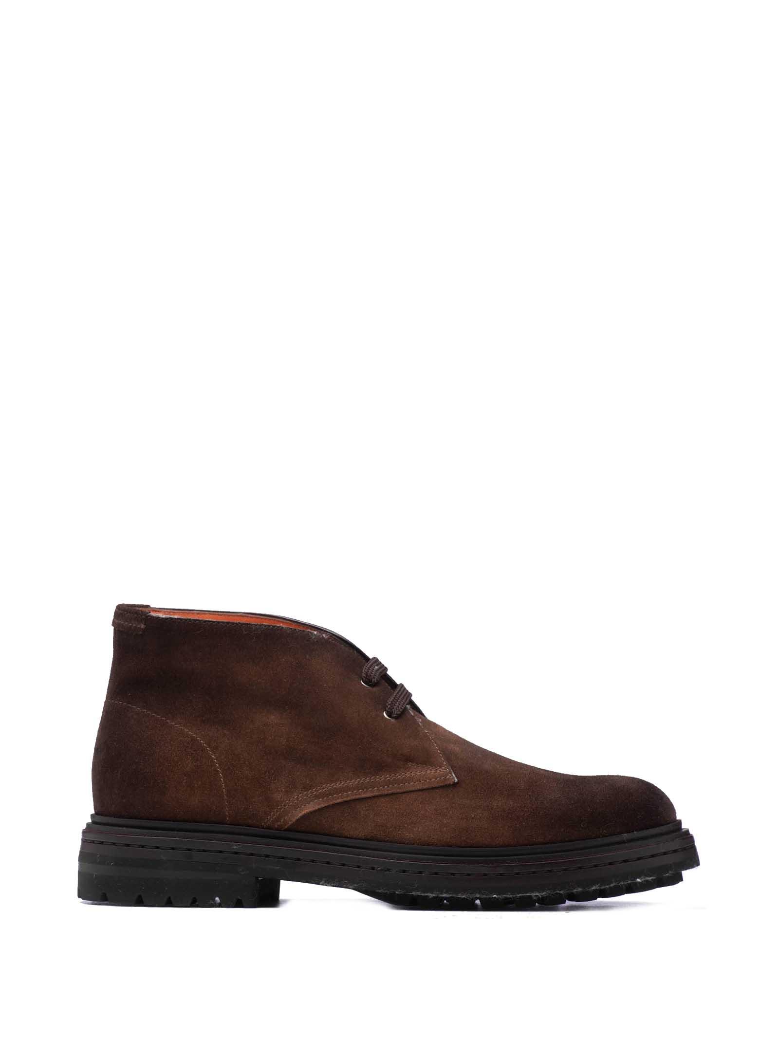 Santoni Santoni 1^ Linea Suede Ankle Boots