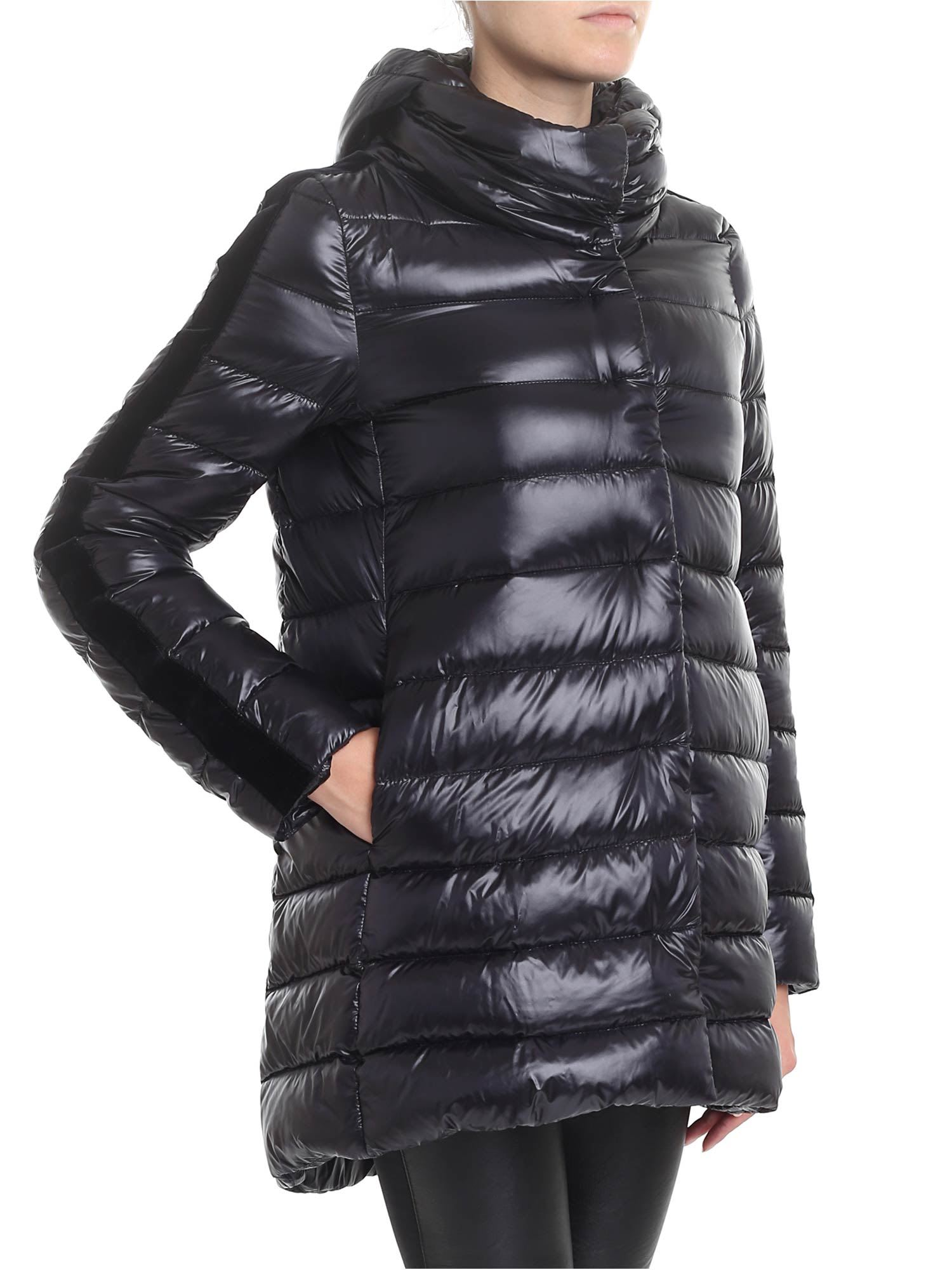 Herno Velvet Sidebands Down Jacket