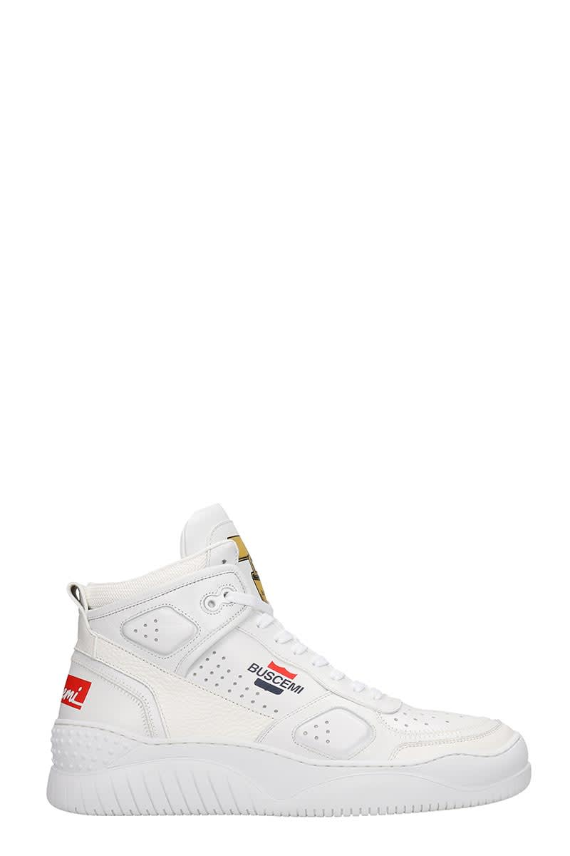 Buscemi SNEAKERS IN WHITE LEATHER