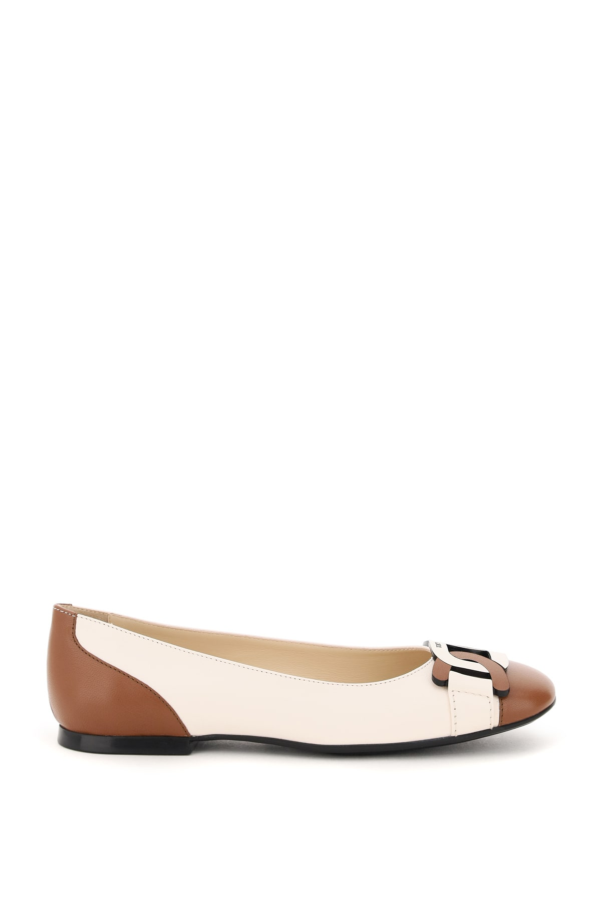 Tods Two-tone Ballet Flats Chain