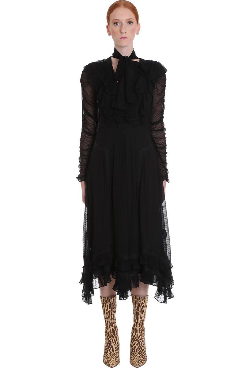 Buy Zimmermann Dress In Black Silk online, shop Zimmermann with free shipping