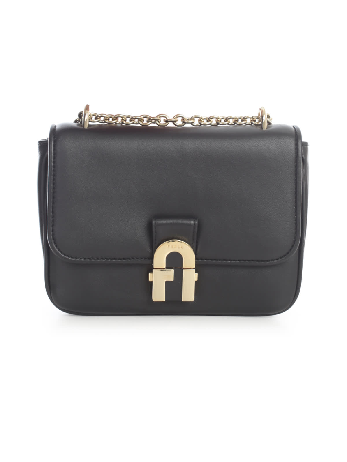 Furla Cosy Mini Shoulder Bag Nappa Burnish