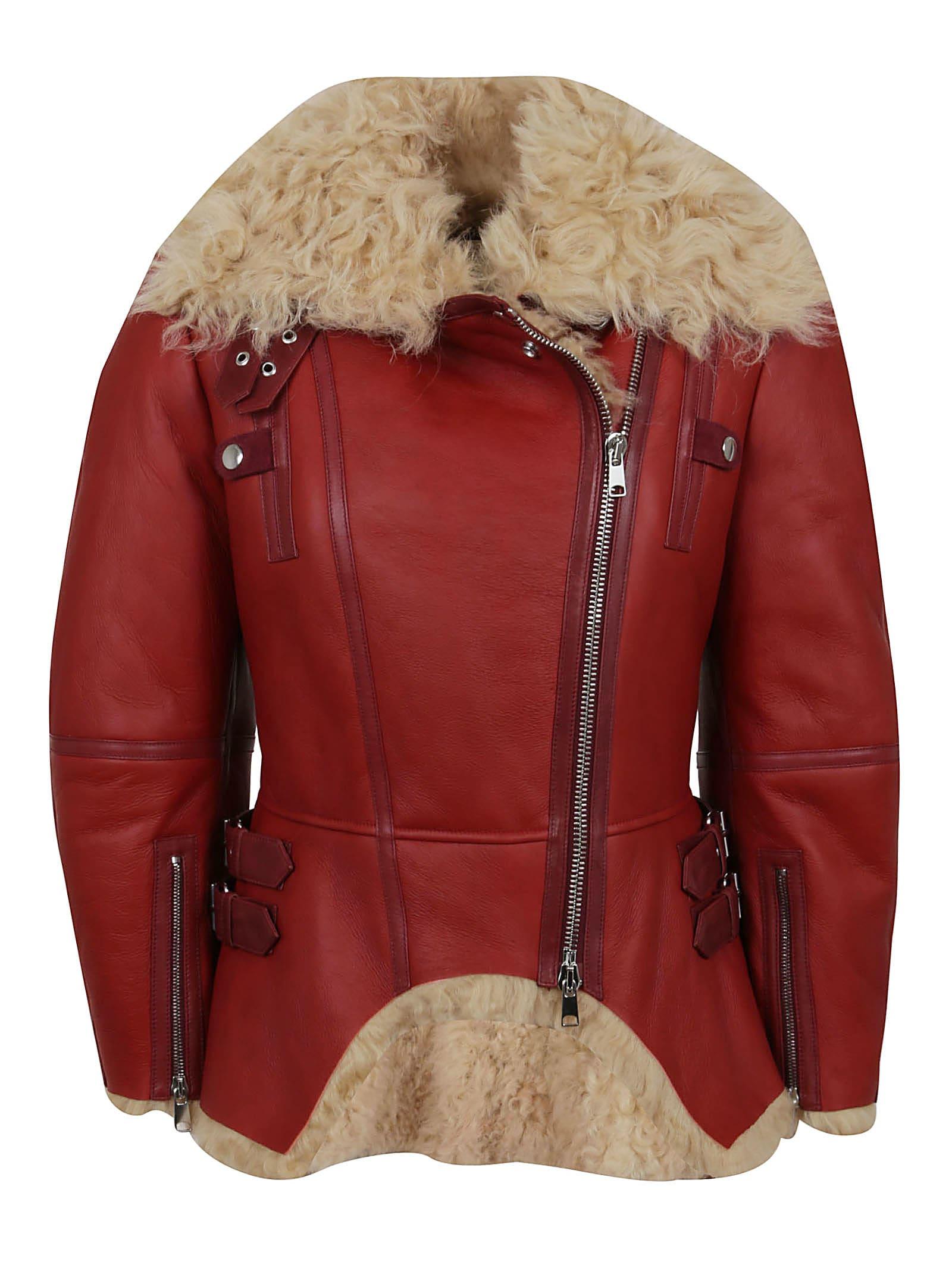 Alexander Mcqueen Biker jackets SHEARLING JACKET