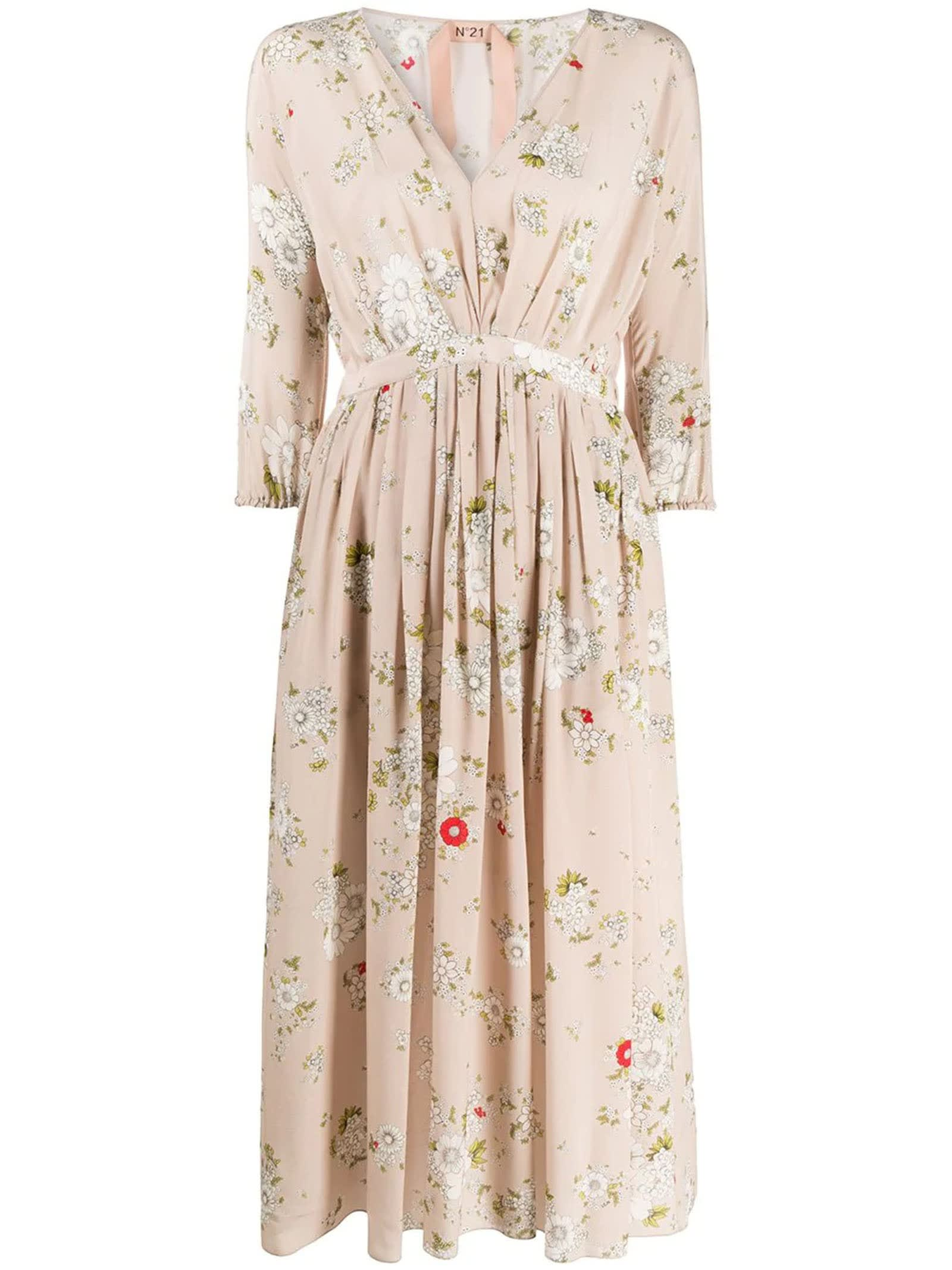 Buy N°21 Floral Silk Dress online, shop N.21 with free shipping