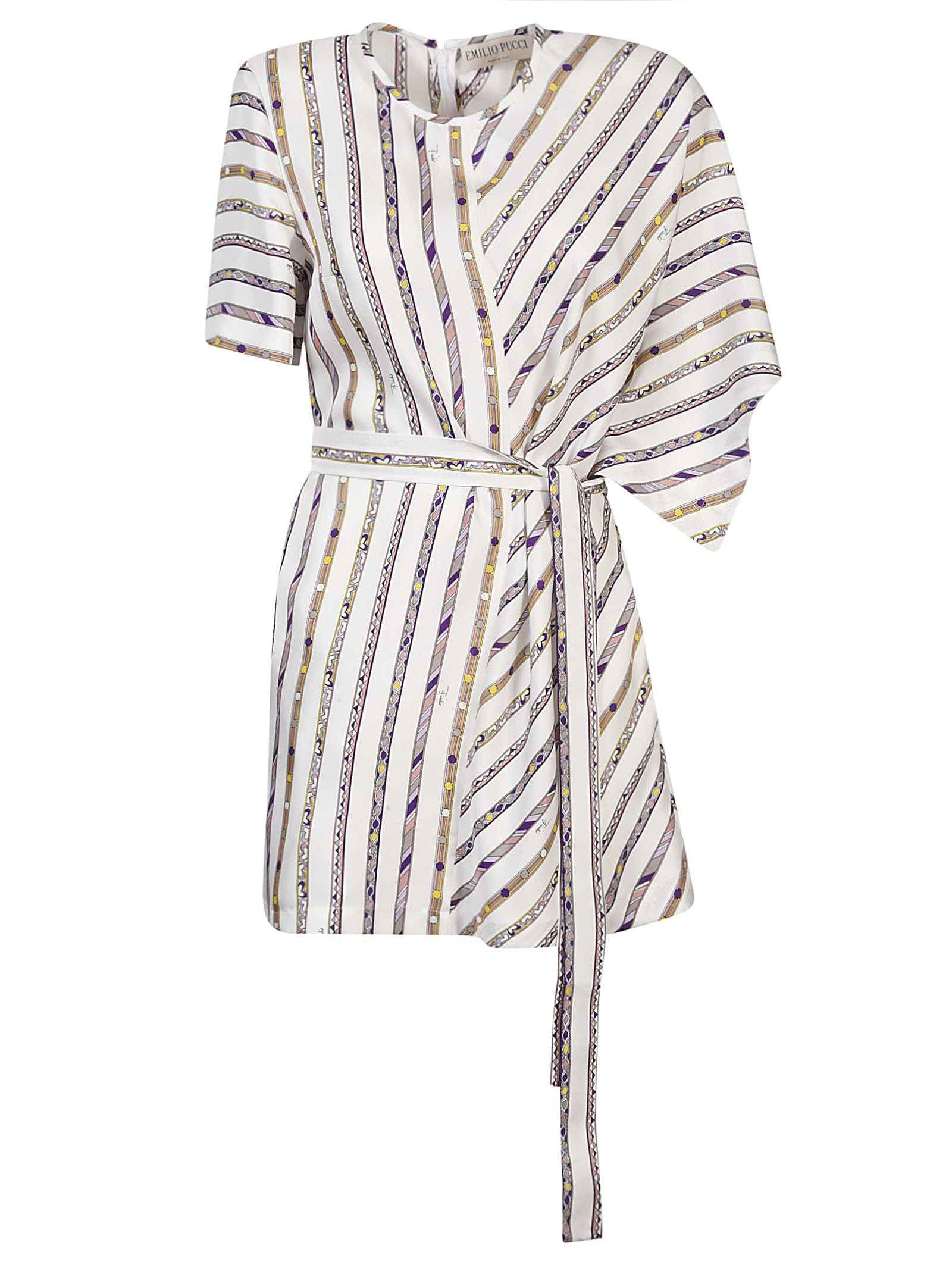Buy Emilio Pucci Belted Striped Dress online, shop Emilio Pucci with free shipping